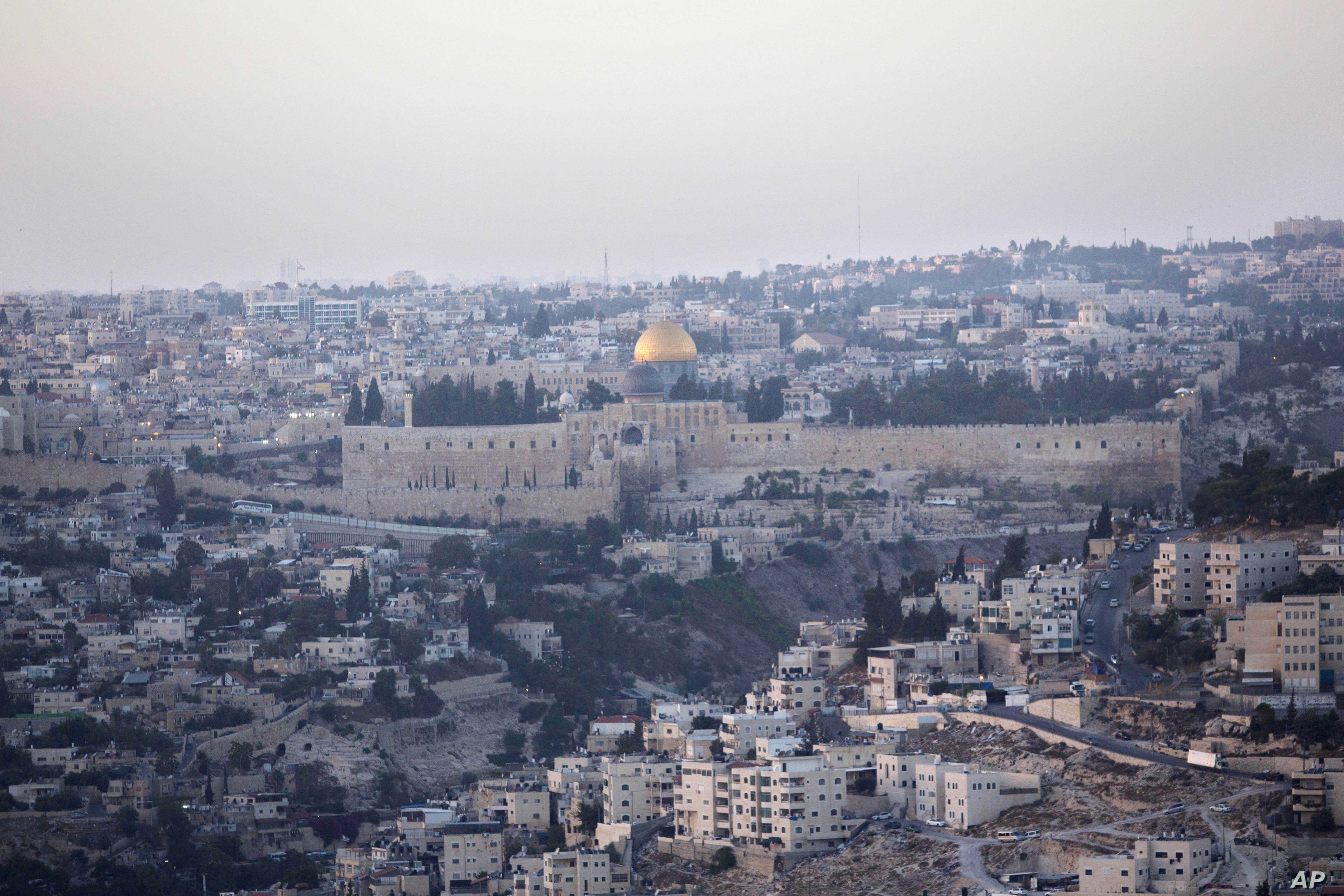 FILE - The Dome of the Rock Mosque in the Al-Aqsa Mosque compound is seen in Jerusalem's Old City, Oct. 14, 2015.