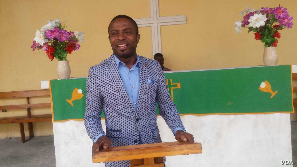 Lawmaker Bertin Augustin who represents Camp Perrin in Haiti's National Parliament, was the keynote speaker at the graduation. (Photo: Esnal Sincere / VOA Creole)