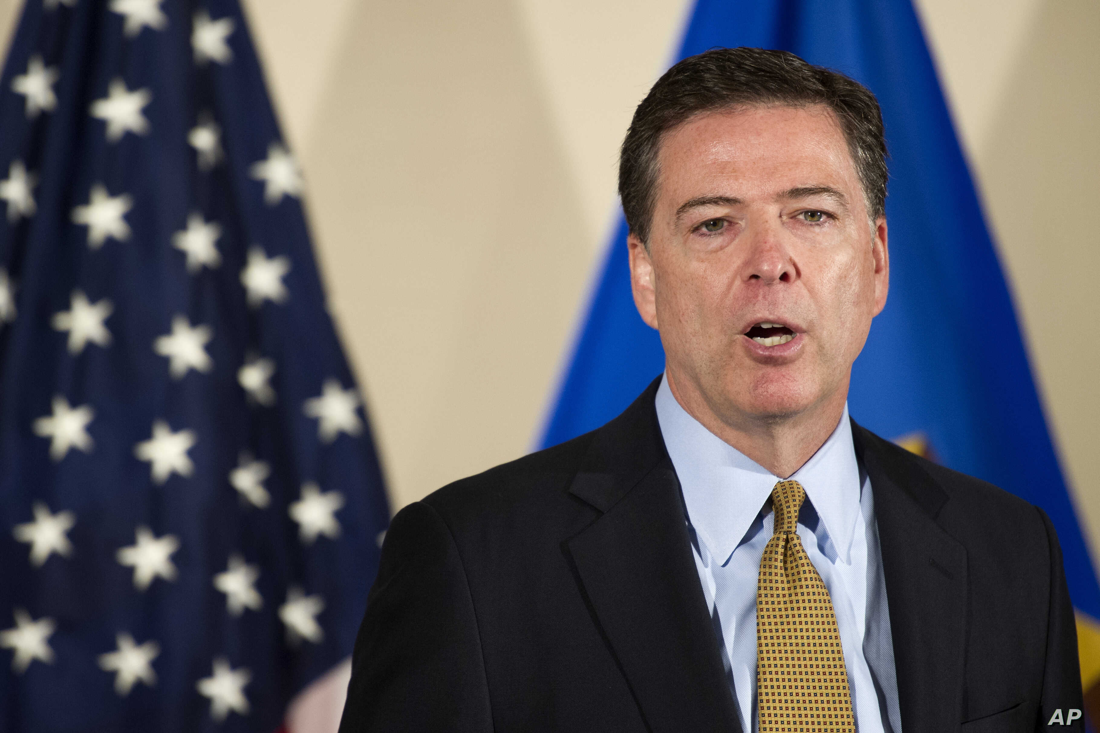 FBI Director James Comey makes a statement at FBI Headquarters in Washington, July 5, 2016.