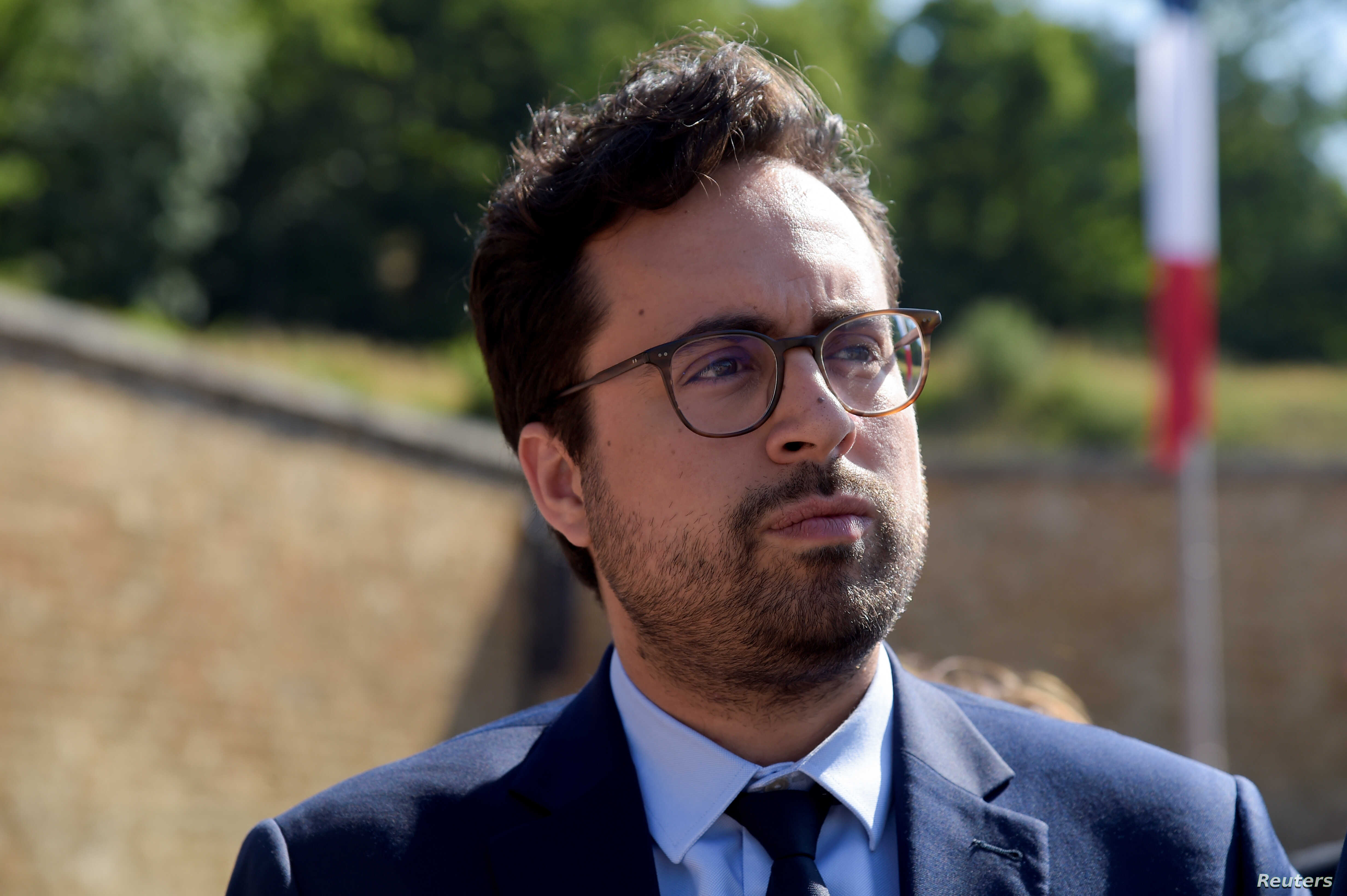 French junior minister for the Digital Sector Mounir Mahjoubi attends the ceremony to mark the 77th anniversary of late French General Charles de Gaulle's resistance call of June 18, 1940, near Paris, June 18, 2017.