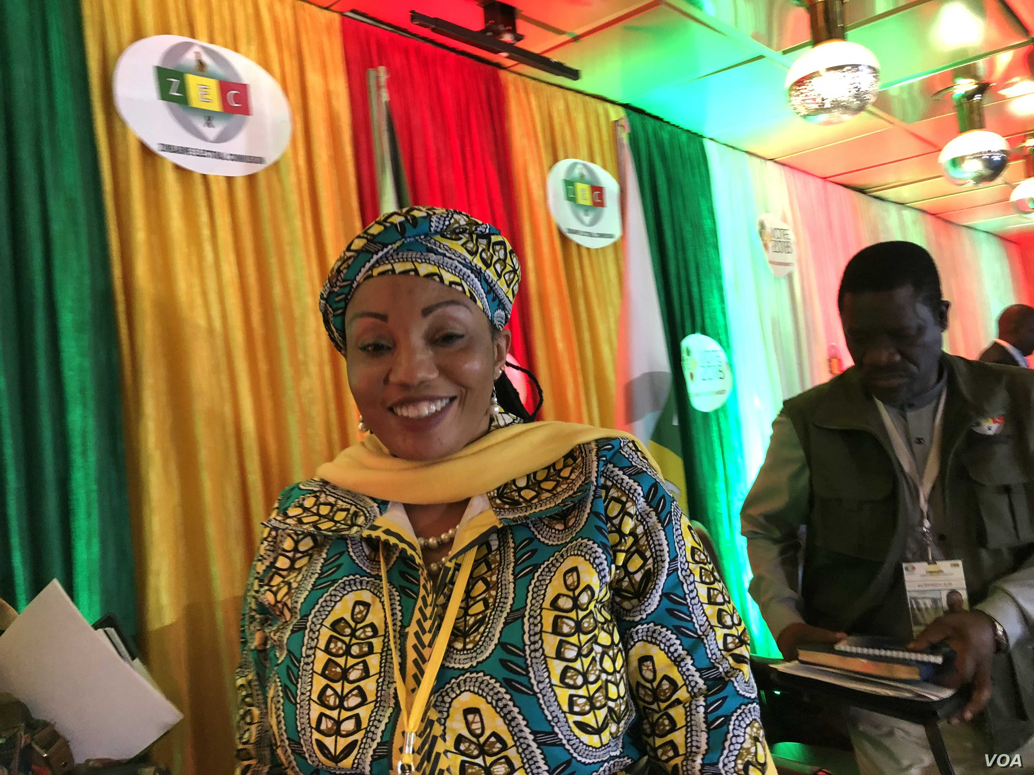 Zimbabwe Electoral Commission Chairperson Priscilla Chigumba could not be reached for comment about International Republican Institute (IRI) and the National Democratic Institute (NDI) report (C. Mavhunga/VOA)