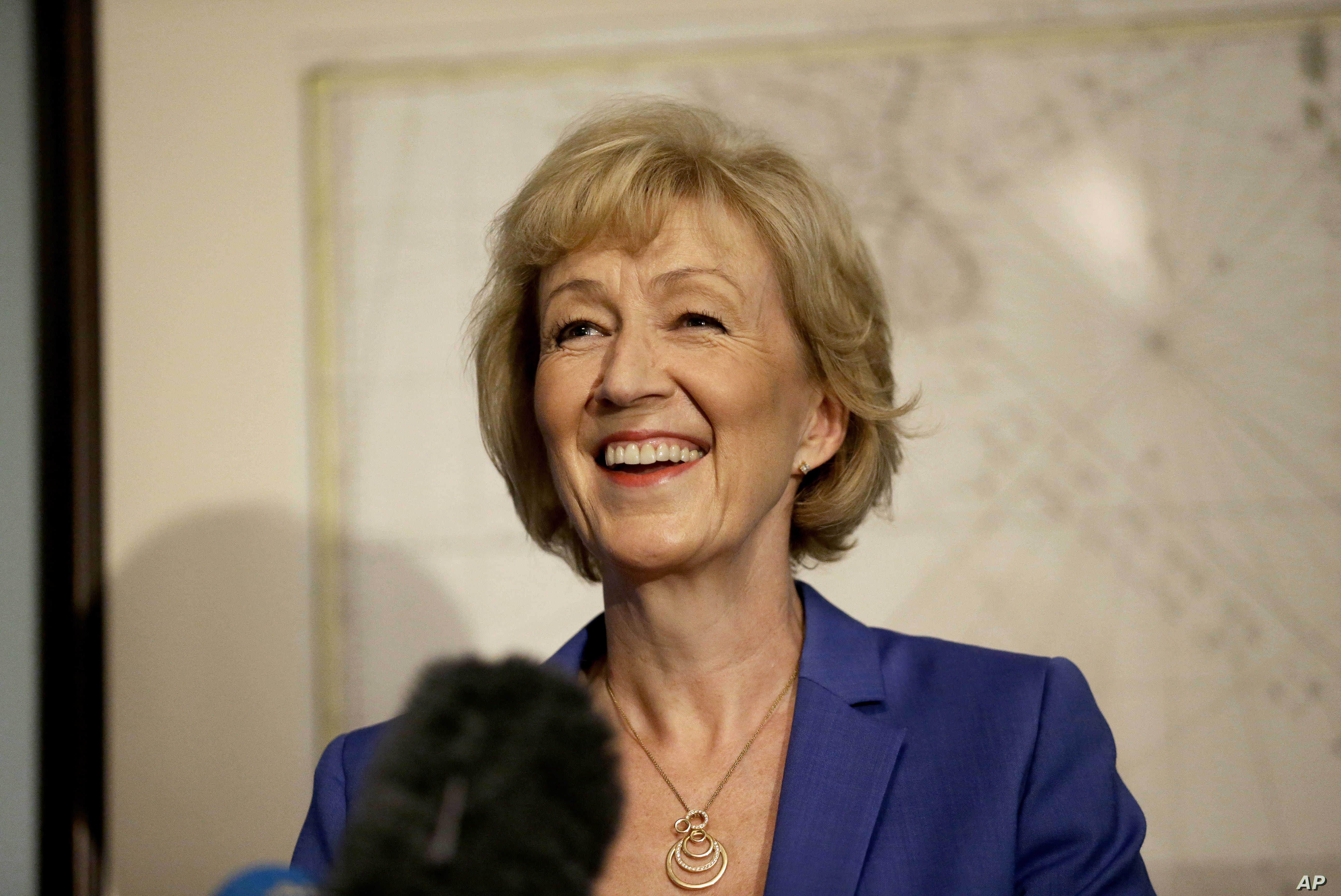 British ruling Conservative Party Member of Parliament, Andrea Leadsom, launches her campaign in London, July 4, 2016.