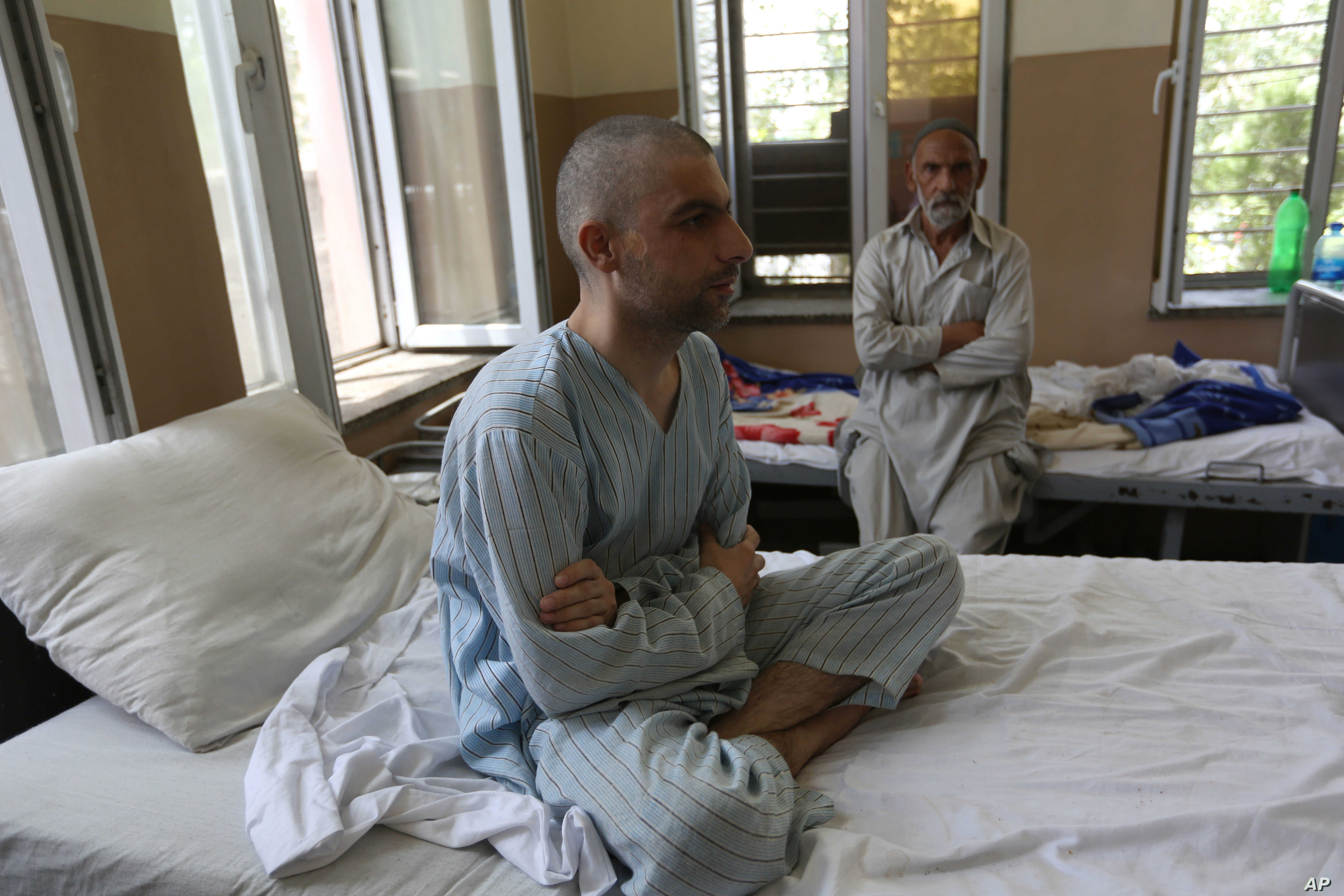 Patients are treated in the Mental Health and Drug Addicts' Hospital in Kabul, Afghanistan, July 17, 2016.