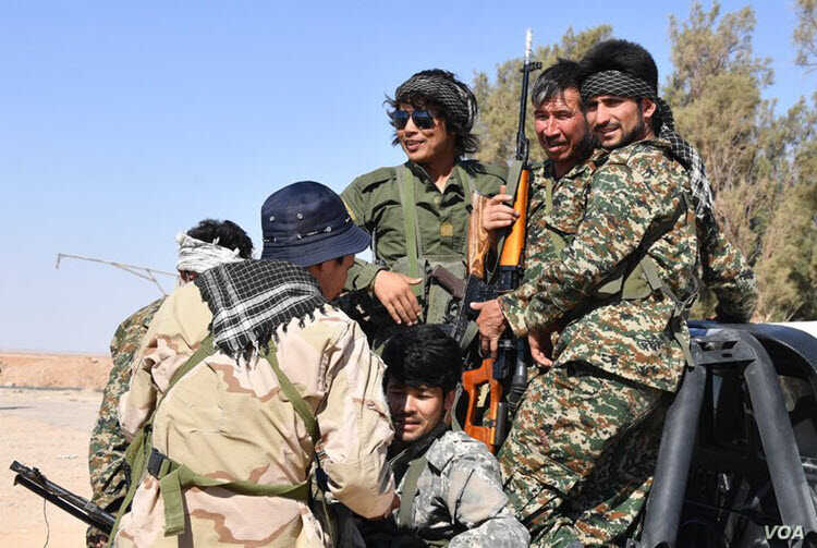 Fatemiyoun Afghan fighters in Syria