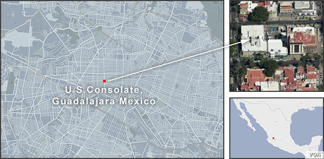 Us Consulate In Mexico Attacked With Grenade No Injuries Voice Of - Us-consulates-in-mexico-map