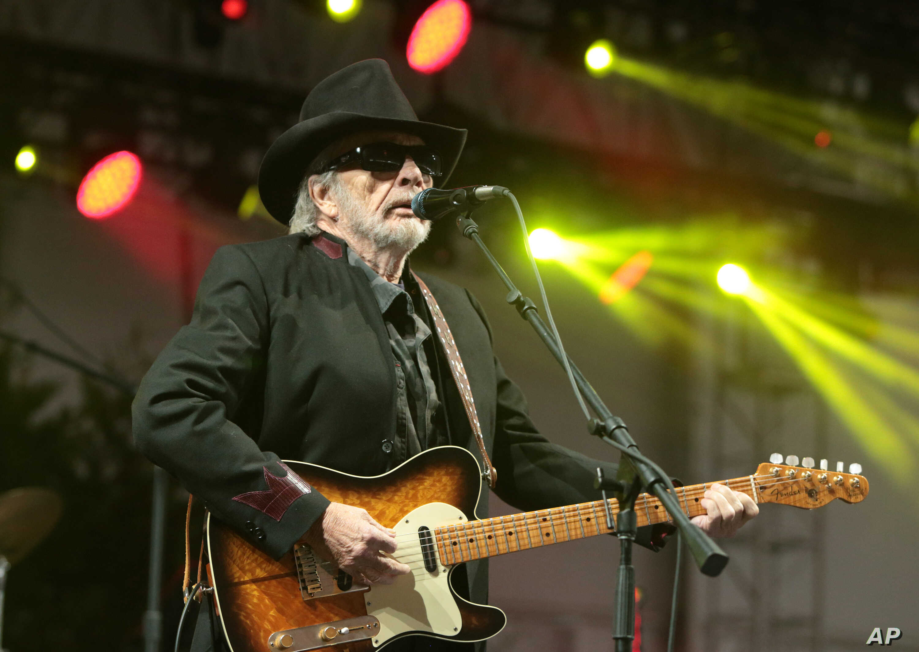 FILE - Merle Haggard performs at the 2015 Big Barrel Country Music Festival in Dover, Del., June 28, 2015.