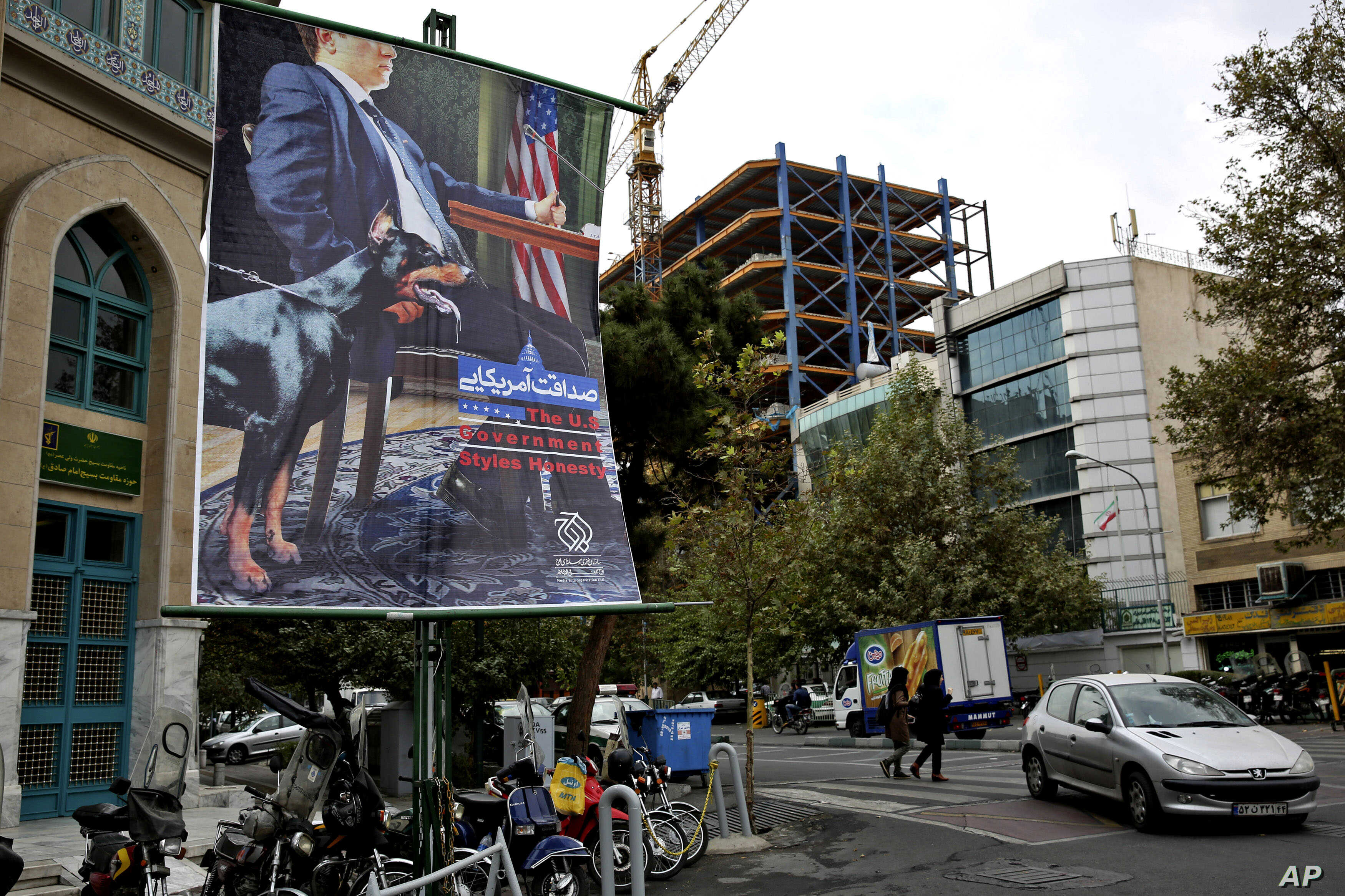 Iran Takes Down New Anti-American Billboards in Tehran