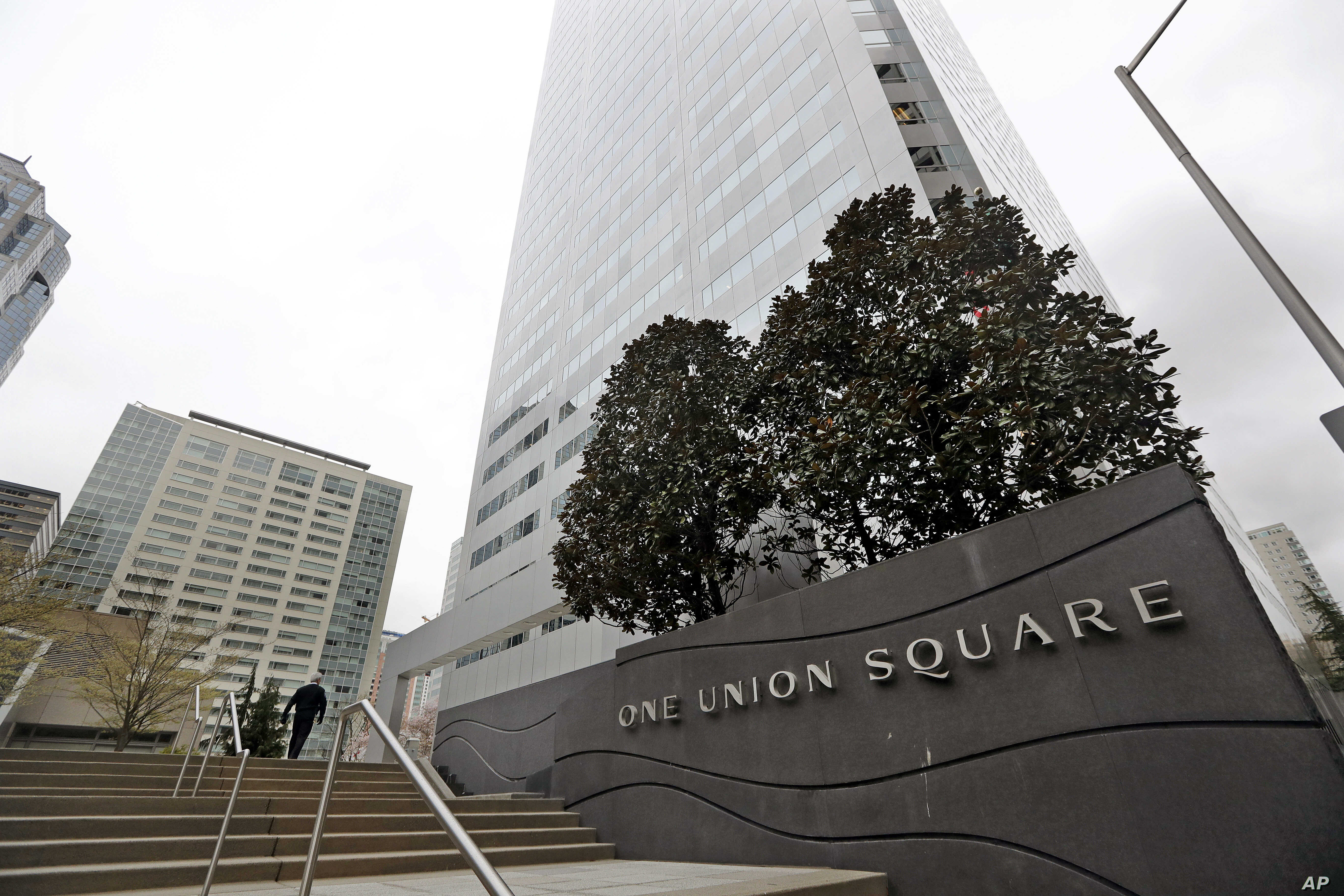 One Union Square, the downtown Seattle building that houses the Russian consulate on the 25th floor, is seen Monday, March 26, 2018.