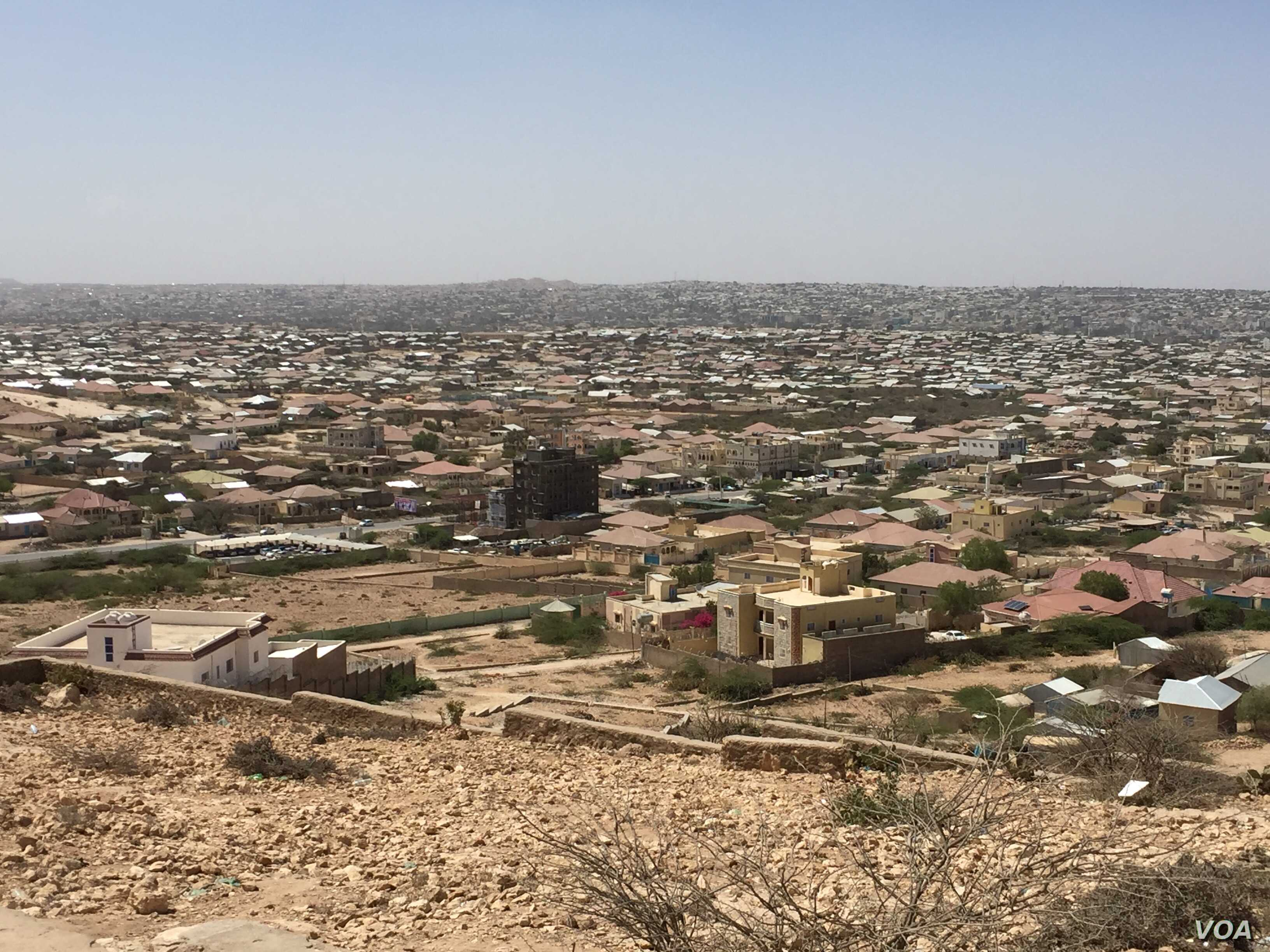 Landscape view of Hargeisa, Somaliland, March 29, 2016.