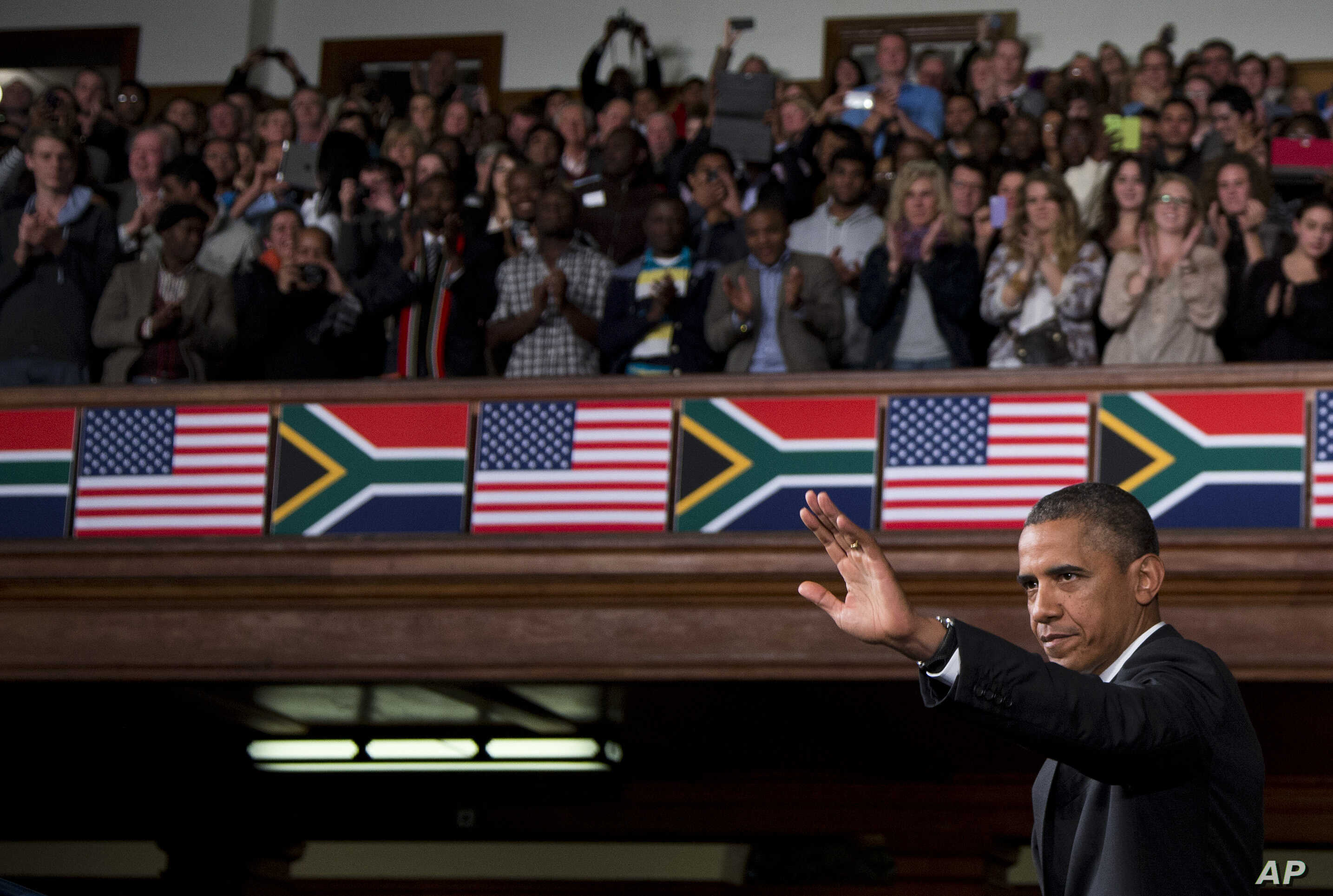 U.S. President Barack Obama speaks at the University of Cape Town Sunday, Jun. 30, 2013, in Cape Town, South Africa.