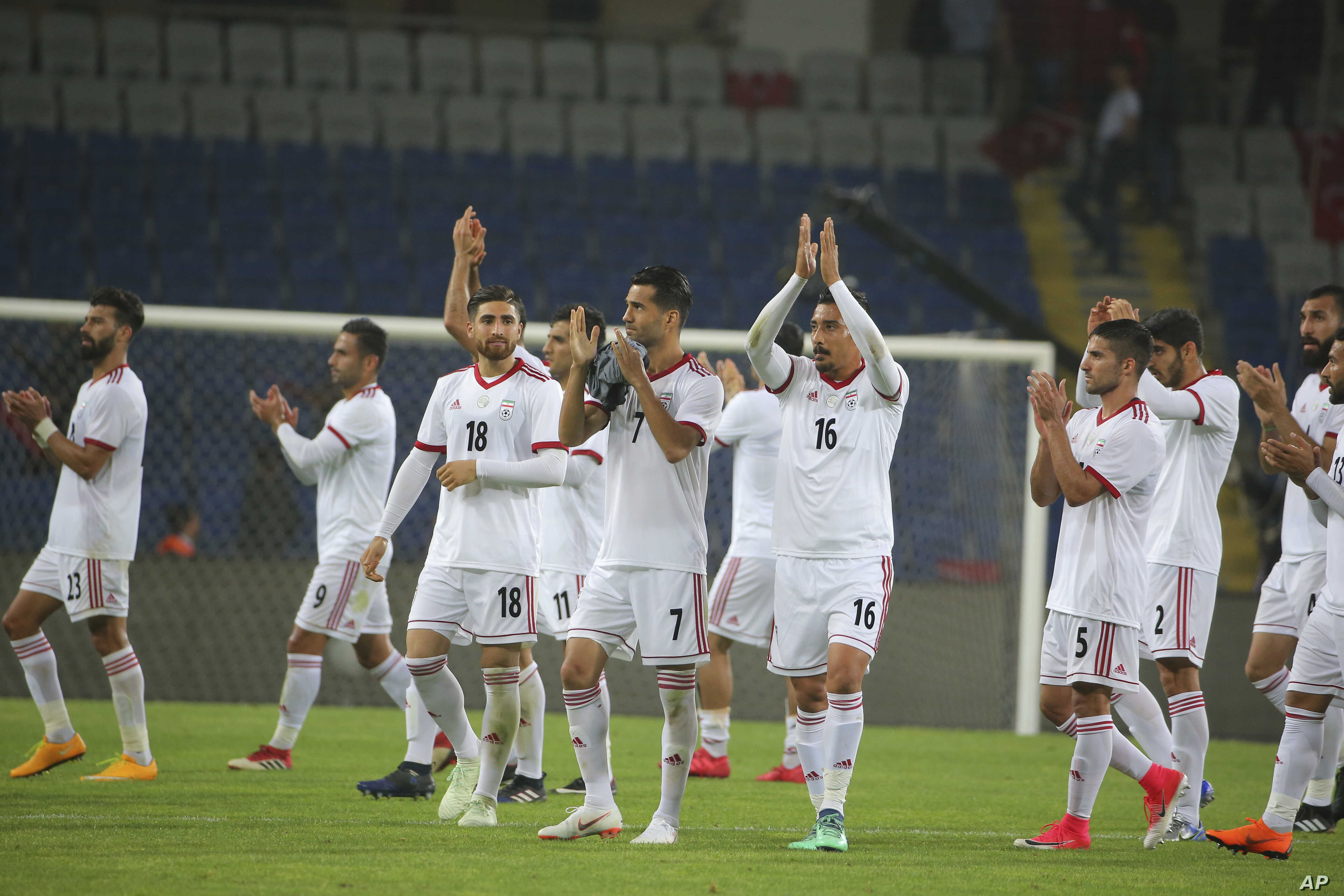 hot sales 7ae24 ea9ed Nike Boycotts Iran's World Cup Players, Citing US Sanctions ...