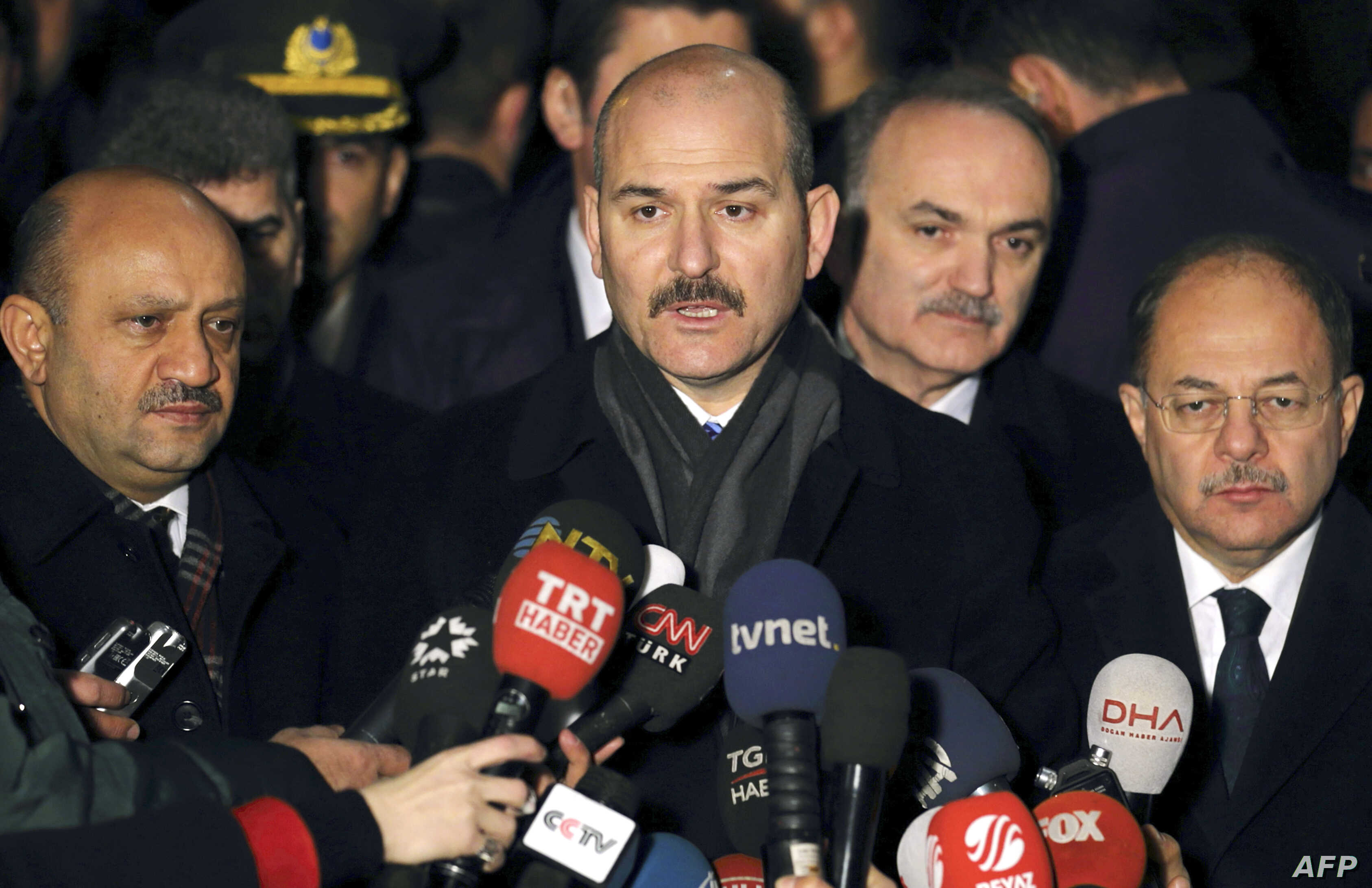 Turkish Minister of Interior, Suleyman Soylu speaks to journalists in Ankara on Dec. 19, 2016.