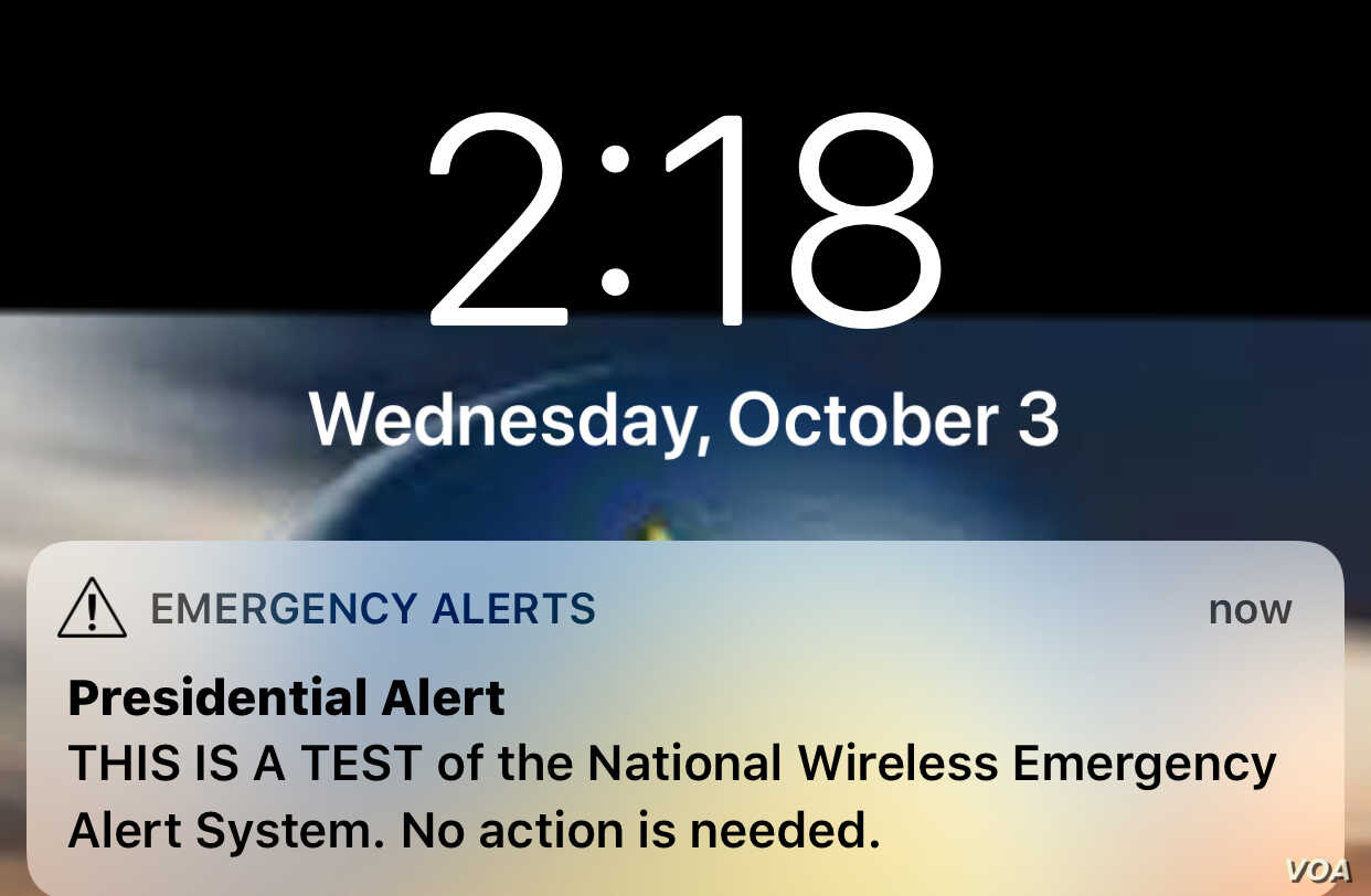 US 'Presidential' Nationwide Emergency Alert System Tested