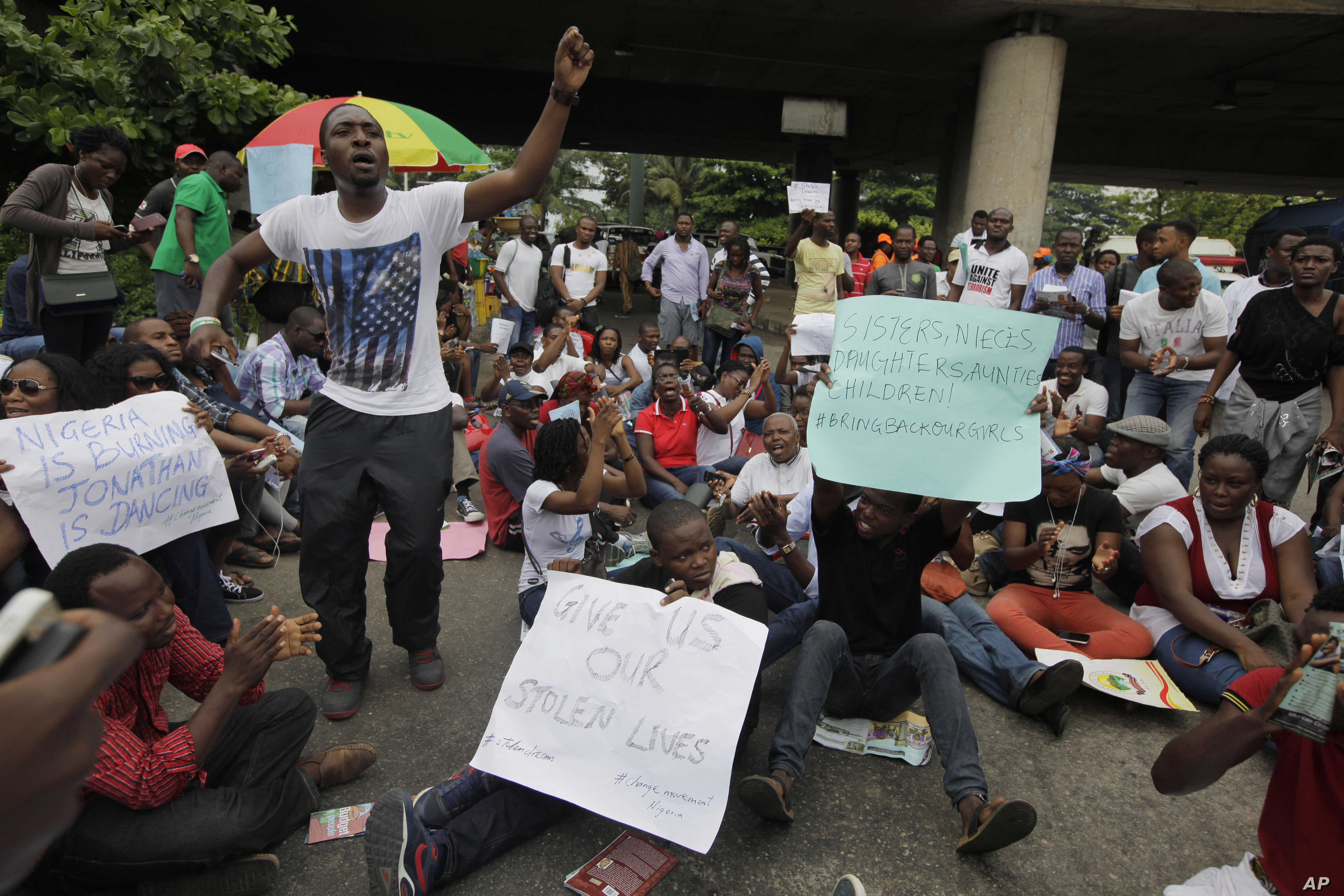 Families of Kidnapped Nigerian Girls Protest for Rescue