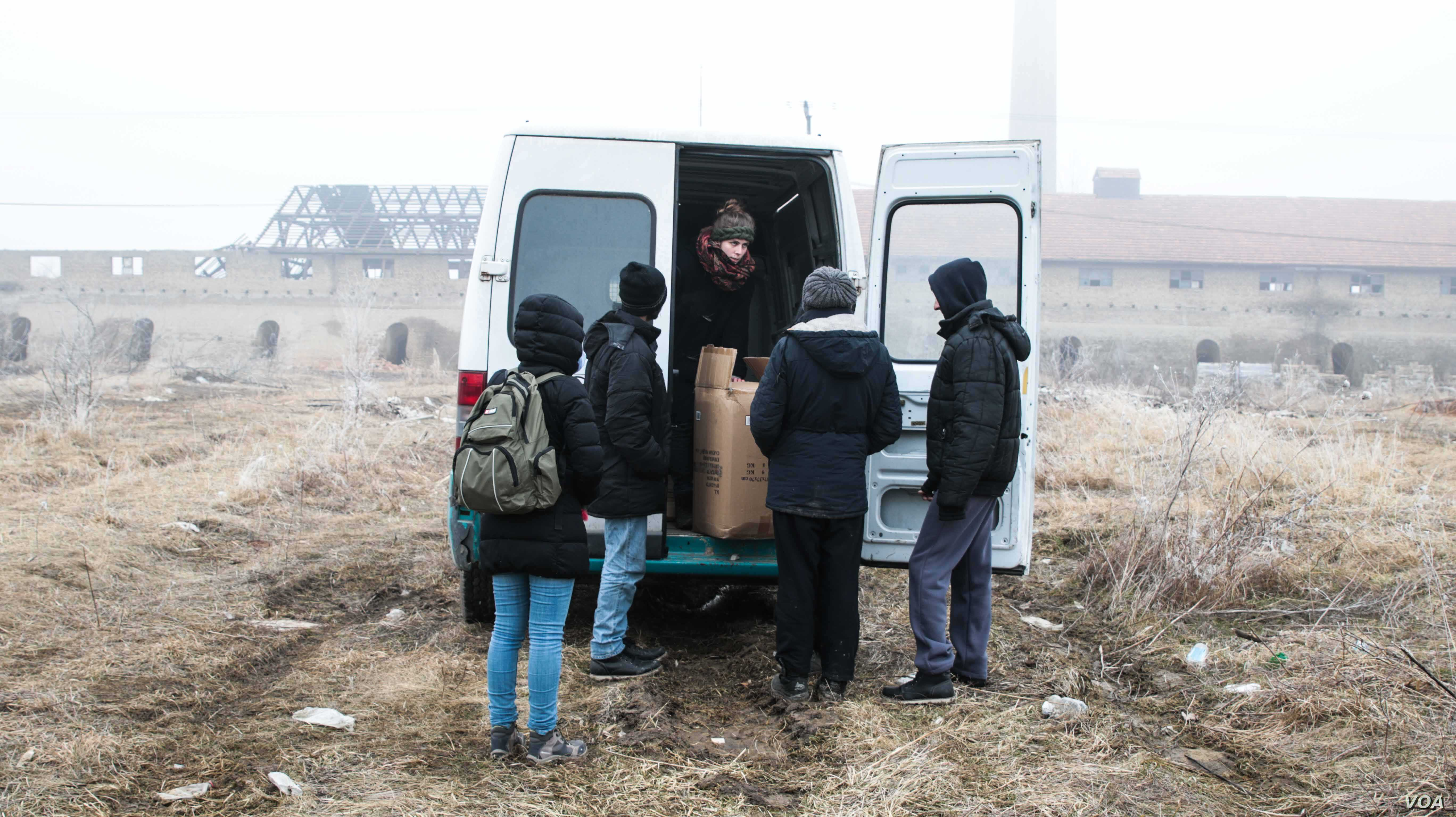 Refugees and migrants live in scattered locations along the Serbian/Hungarian border. Many live in this former brick factory, amid appalling conditions as they wait for the right time to attempt a border crossing. (J. Owens for VOA)