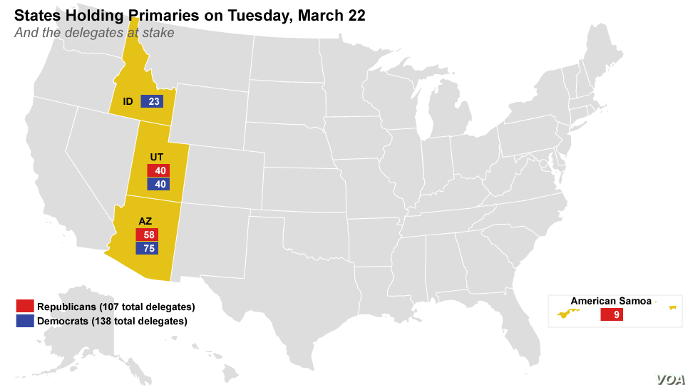 US Primary State-by-state Results | Voice of America - English