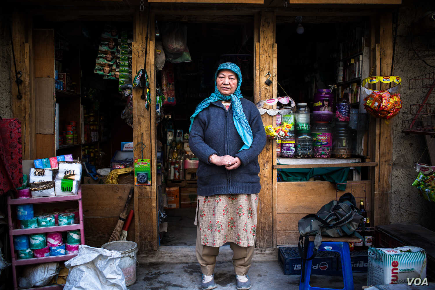 Syada Bano, a shopkeeper in Leh, said she converted to Islam when she got married at age 16 and has no regrets.