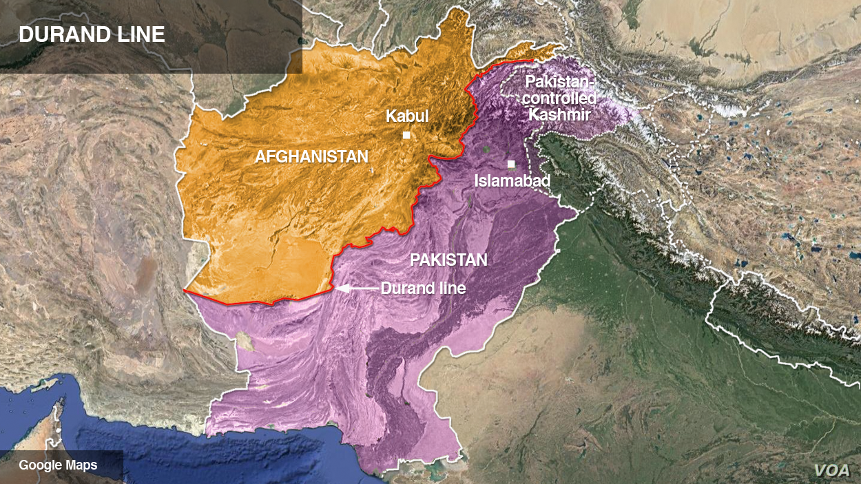 The Durand line, on the Afghanistan-Pakistan border
