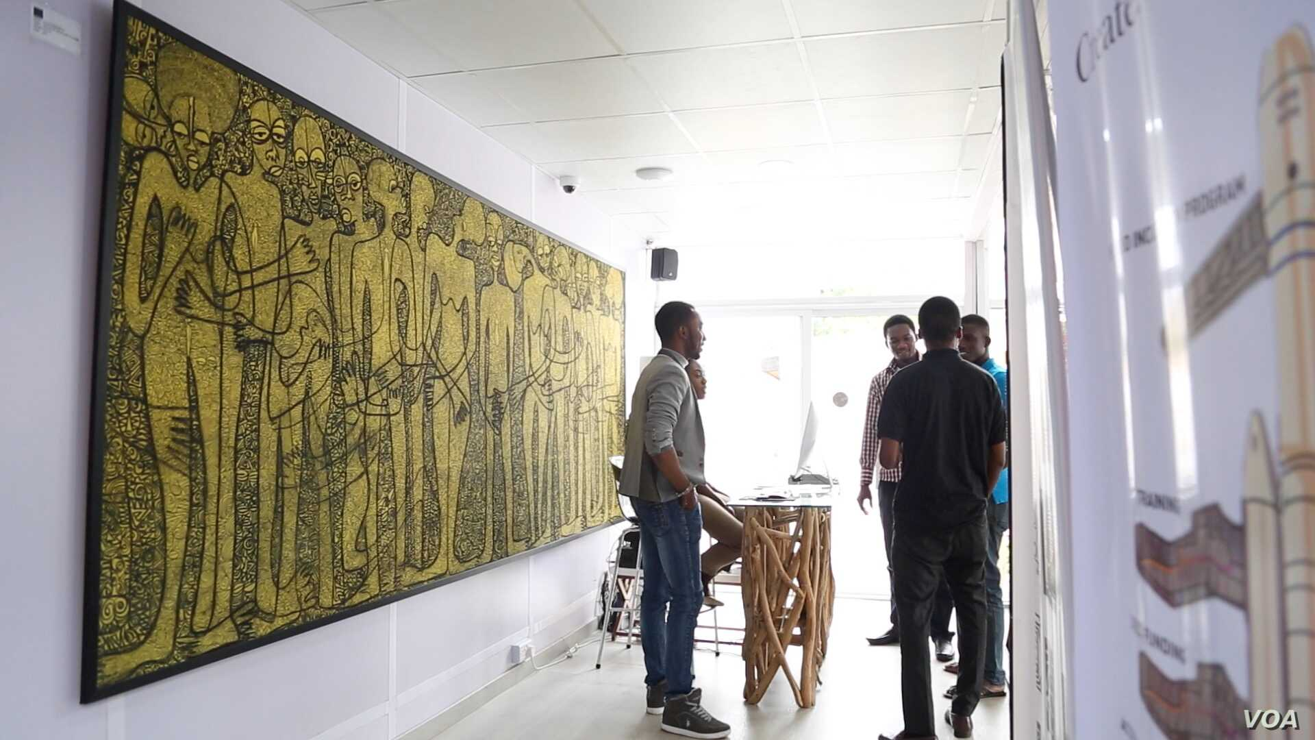 Ventures Platform, seen Sept. 2, 2016, is a new public workspace and incubator that offers support for startup companies in Abuja, Nigeria. (C. Oduah/VOA)