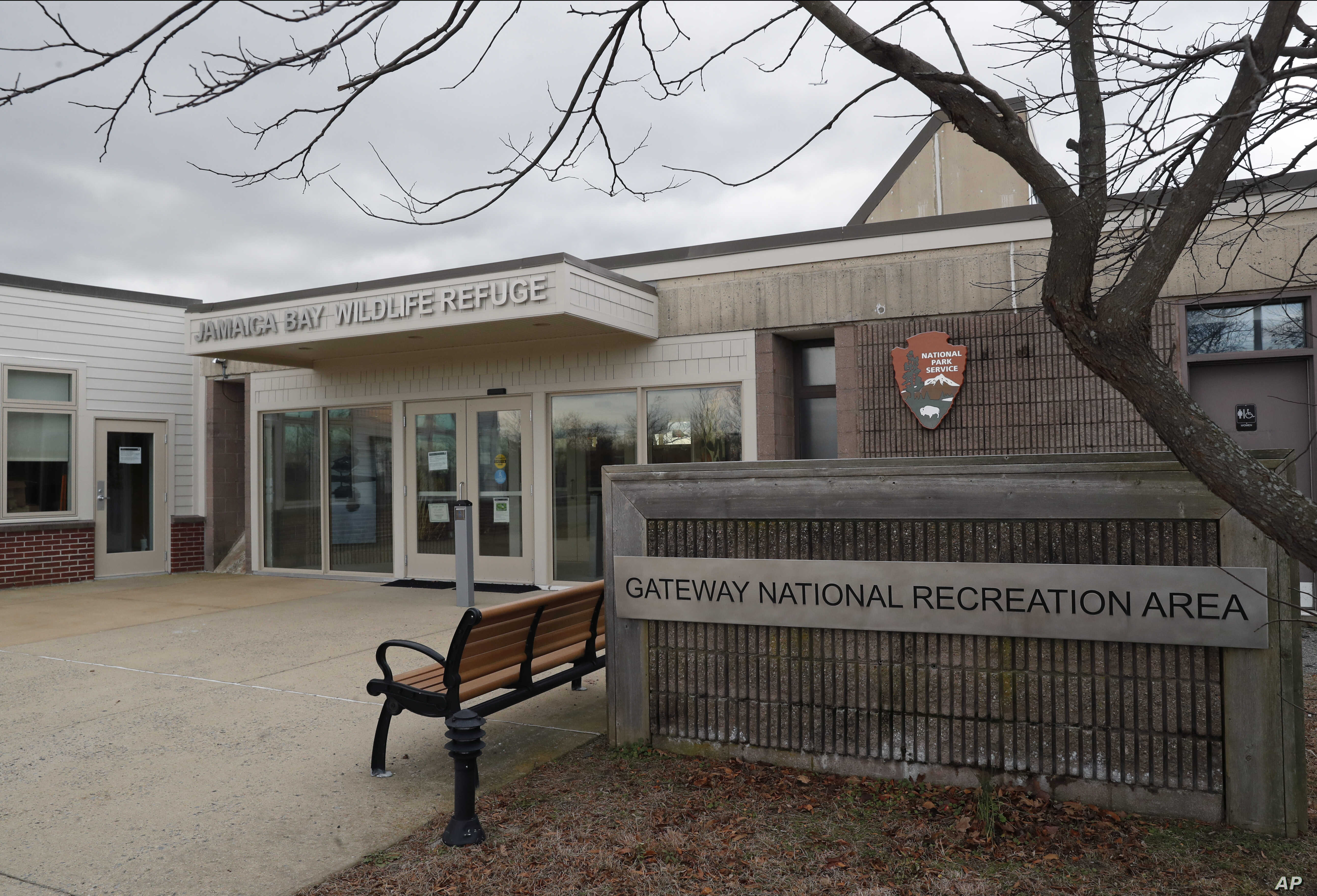 The Visitor's Center at Jamaia Bay Wildlife Refuge, part of the 27,000-acre Gateway National Recreation Area, remained closed, Jan. 3, 2019, in New York, on the 12thh day of a partial government shutdown.