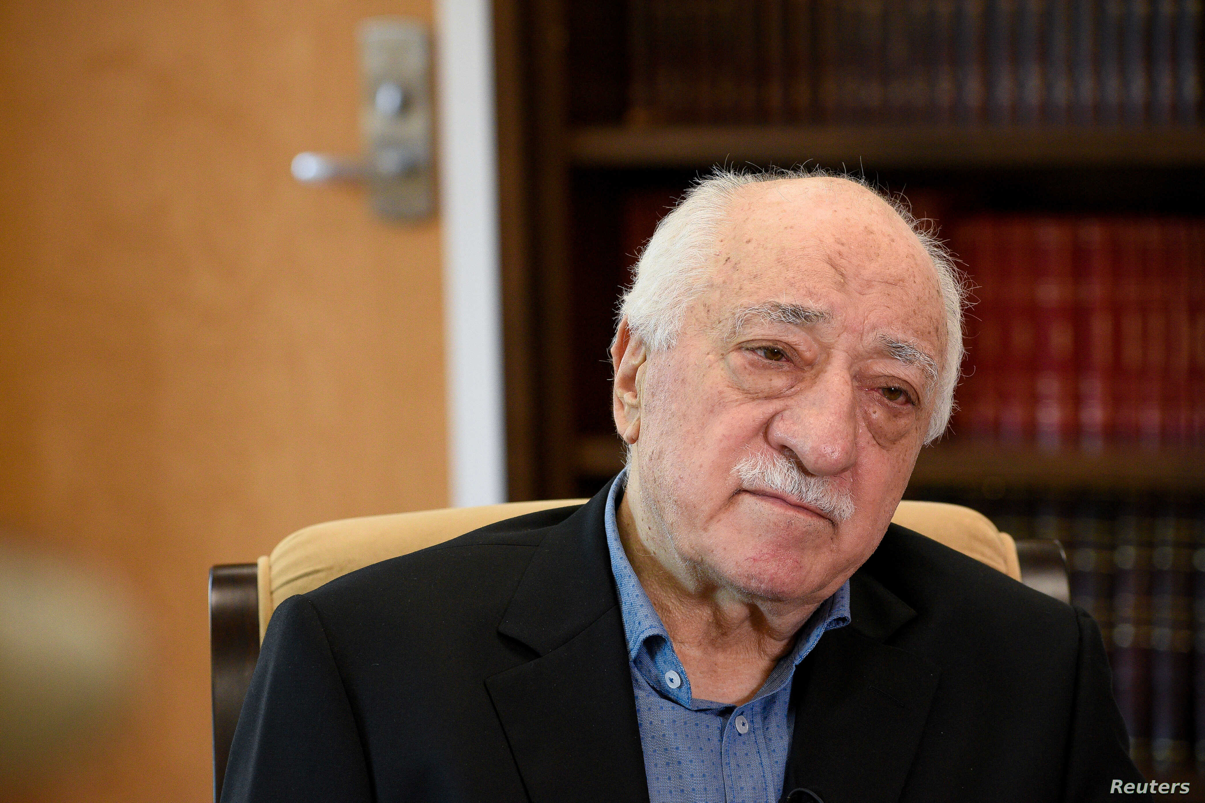 FILE - U.S.-based Turkish cleric Fethullah Gulen at his home in Saylorsburg, Pa., U.S. July 10, 2017.