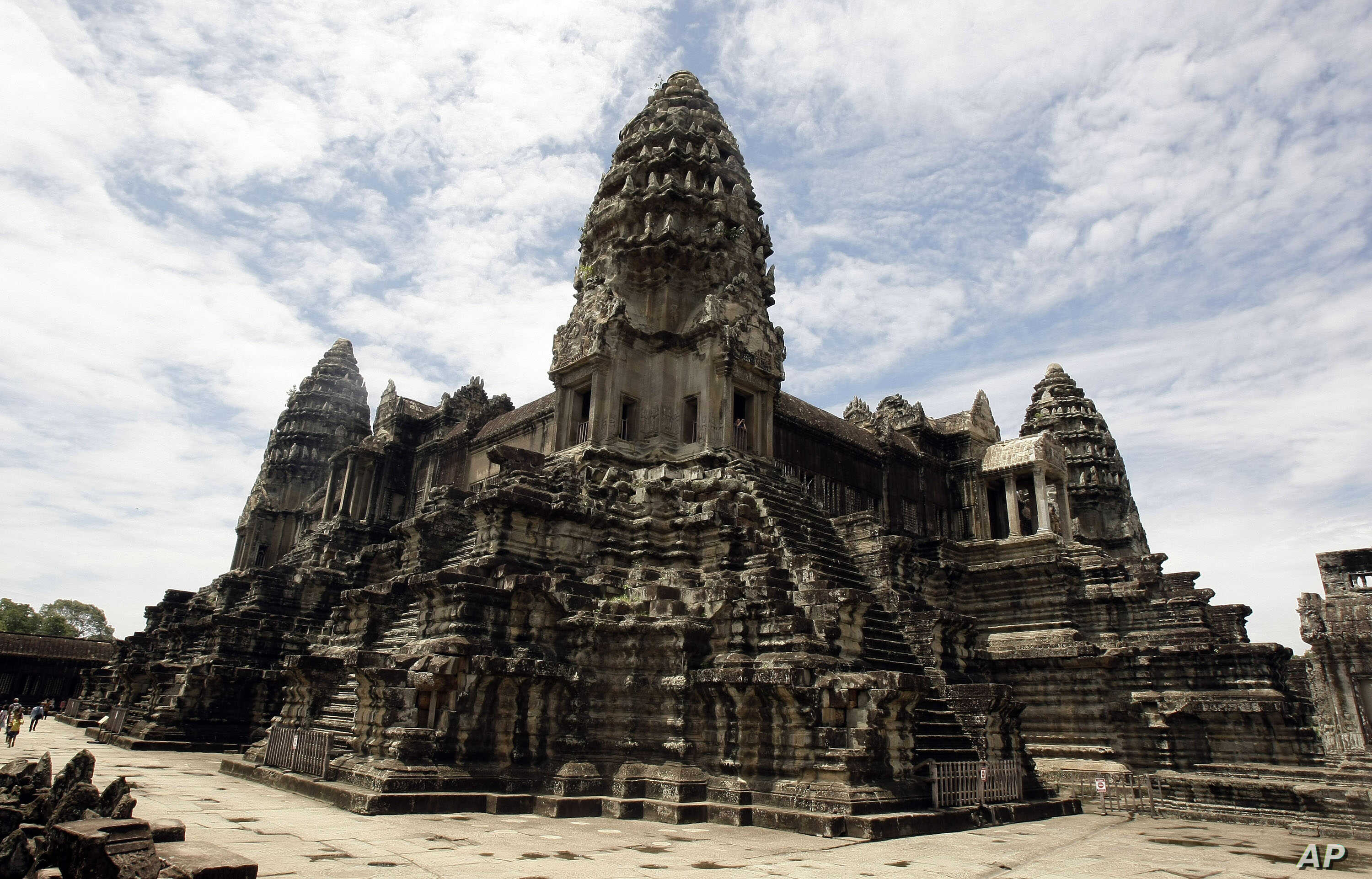 Cambodia's famed Angkor Wat ancient Hindu temple complex stands in Siem Reap province, some 230 kilometers (143 miles) northwest Phnom Penh, Cambodia, June 28, 2012.