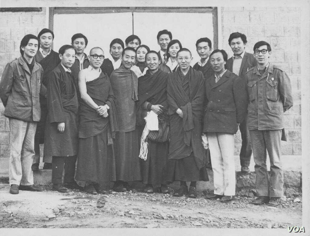 Lodi Gyari, second from left, with the Tibetan Youth Congress founders.