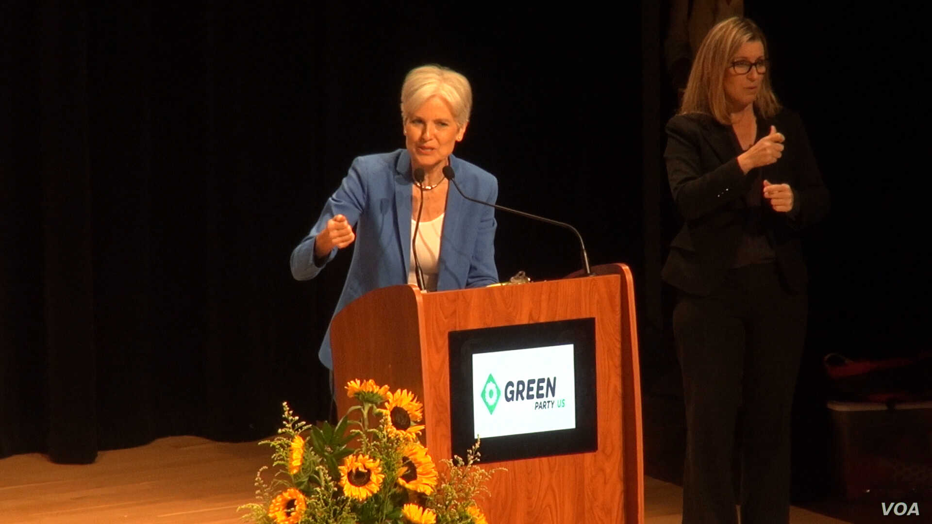 In her Green Party presidential nomination acceptance speech in Houston, Jill Stein went through a list of left-of-center positions the party presents in its platform, including a government payoff of student loan debt, an end to free-trade agreement...