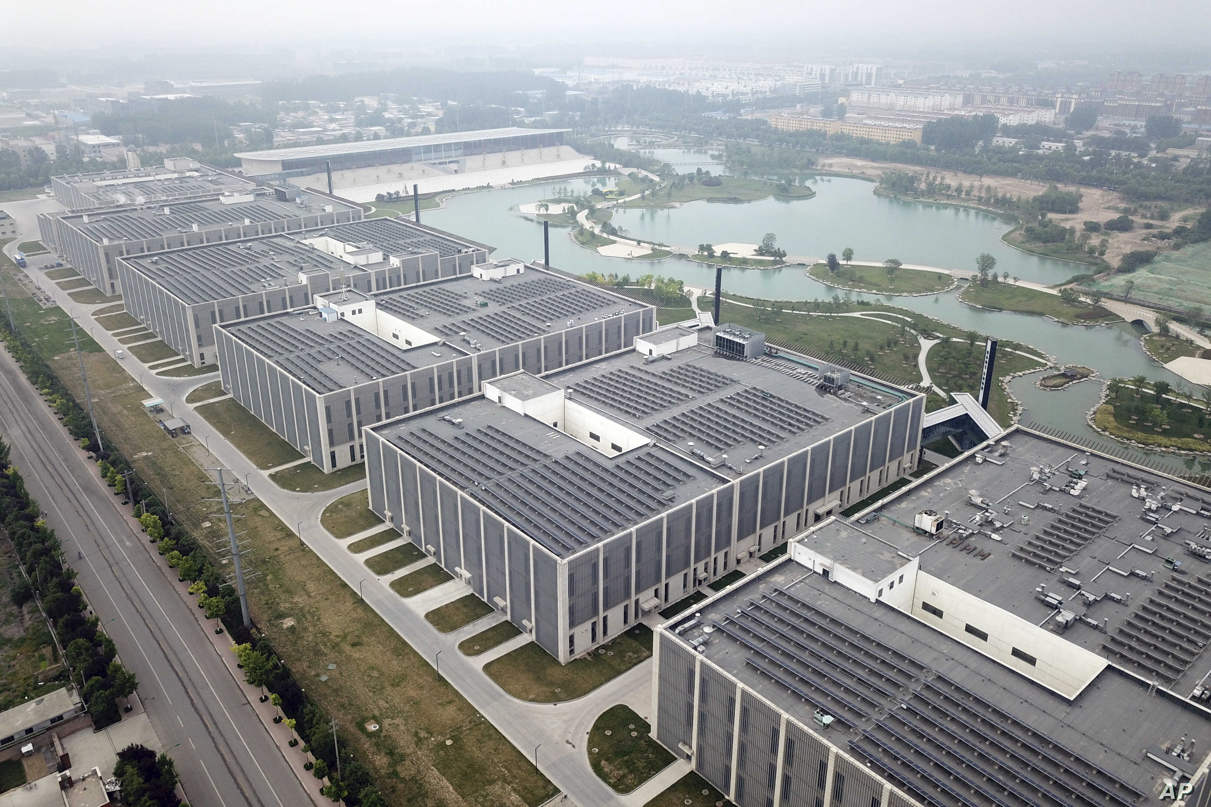 Drone photo shows the main processing facilities of the world's largest donkey skin gel producer in Dong'e, China, May 15, 2018. The Dong'e Ejiao Corporation Limited, known by its Chinese initials DEEJ, has profited greatly as the Chinese middle clas...