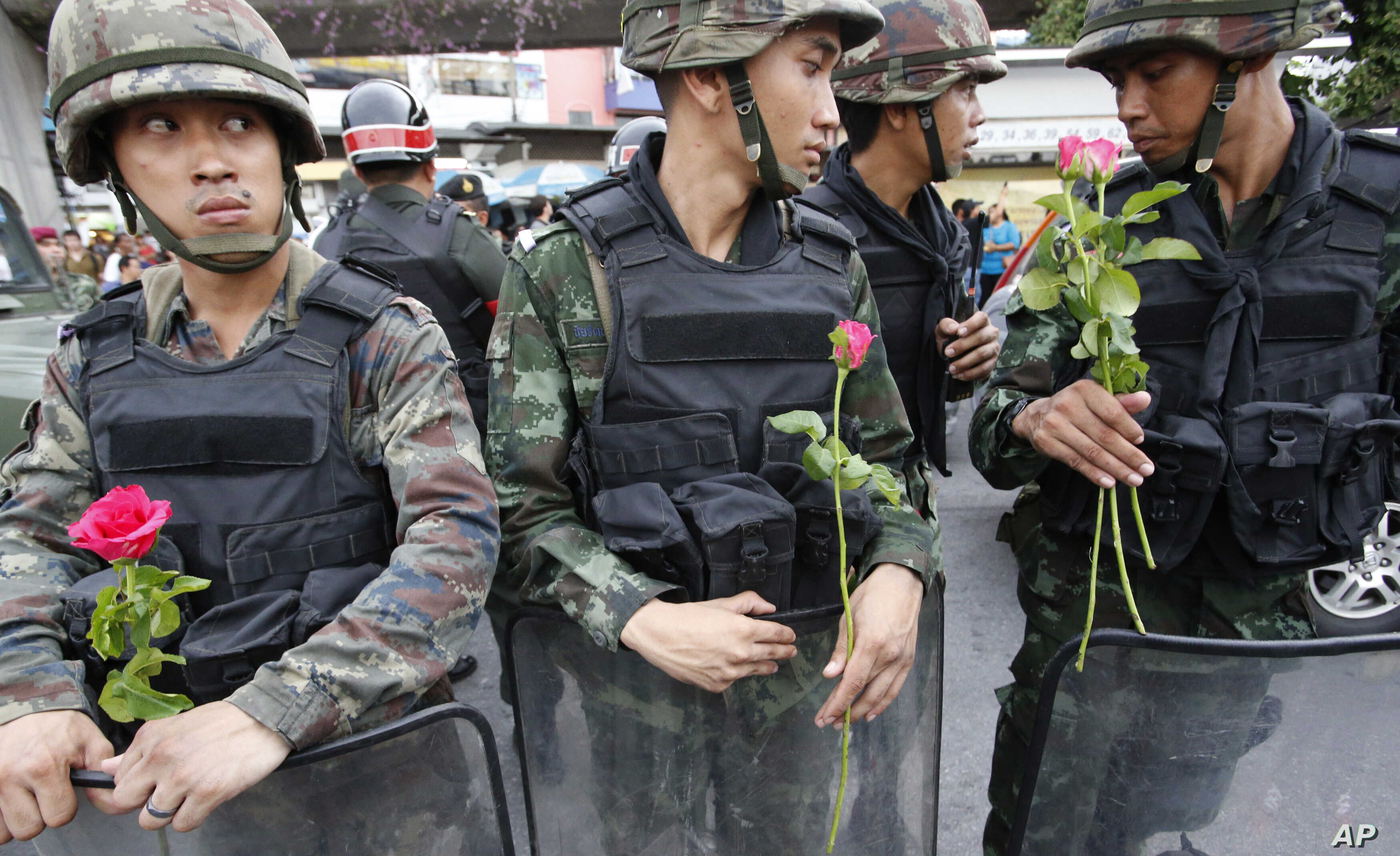 Thai Army Targets Hearts and Minds with Stickers, Selfies