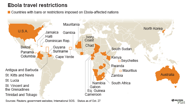 Ebola travel restrictions