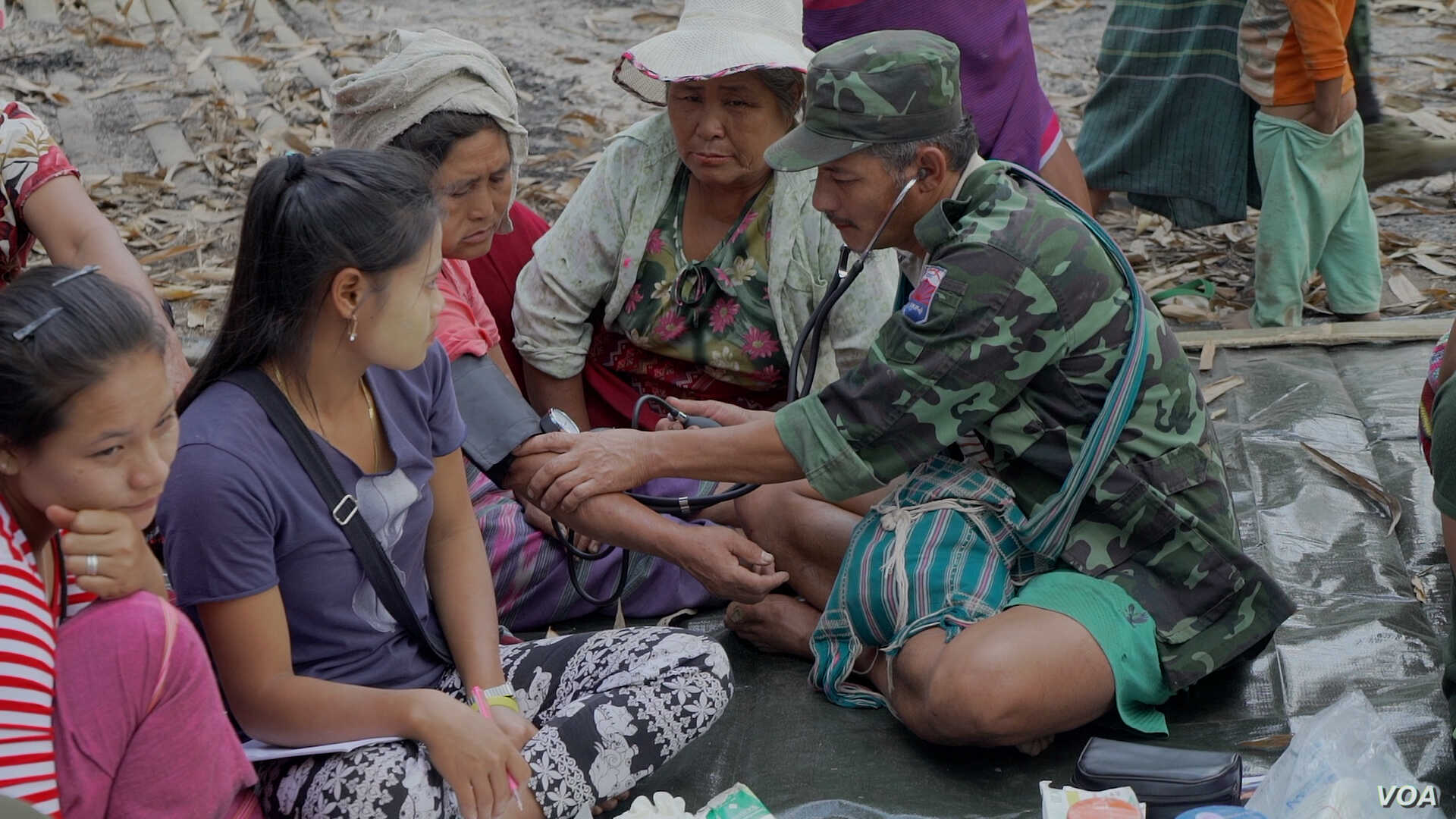Saw Shwe Maung has been a front-line Karen National Liberation Army medic for 10 years. He fears the spread of disease among the displaced during the rainy season.