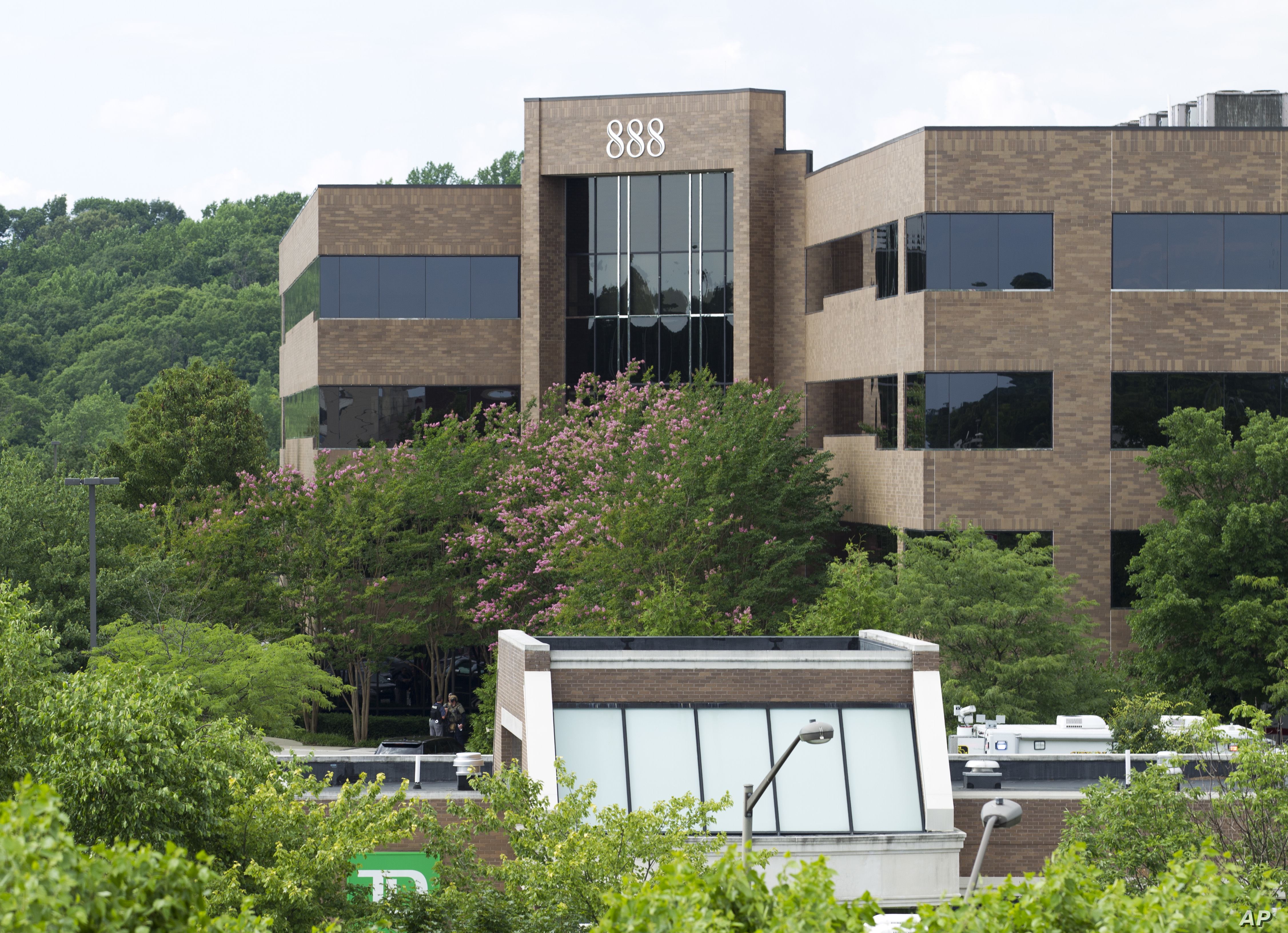 The 888 Bestgate Road building is seen after police received reports of multiple people being shot at the Capital Gazette newspaper in Annapolis, Md., June 28, 2018.