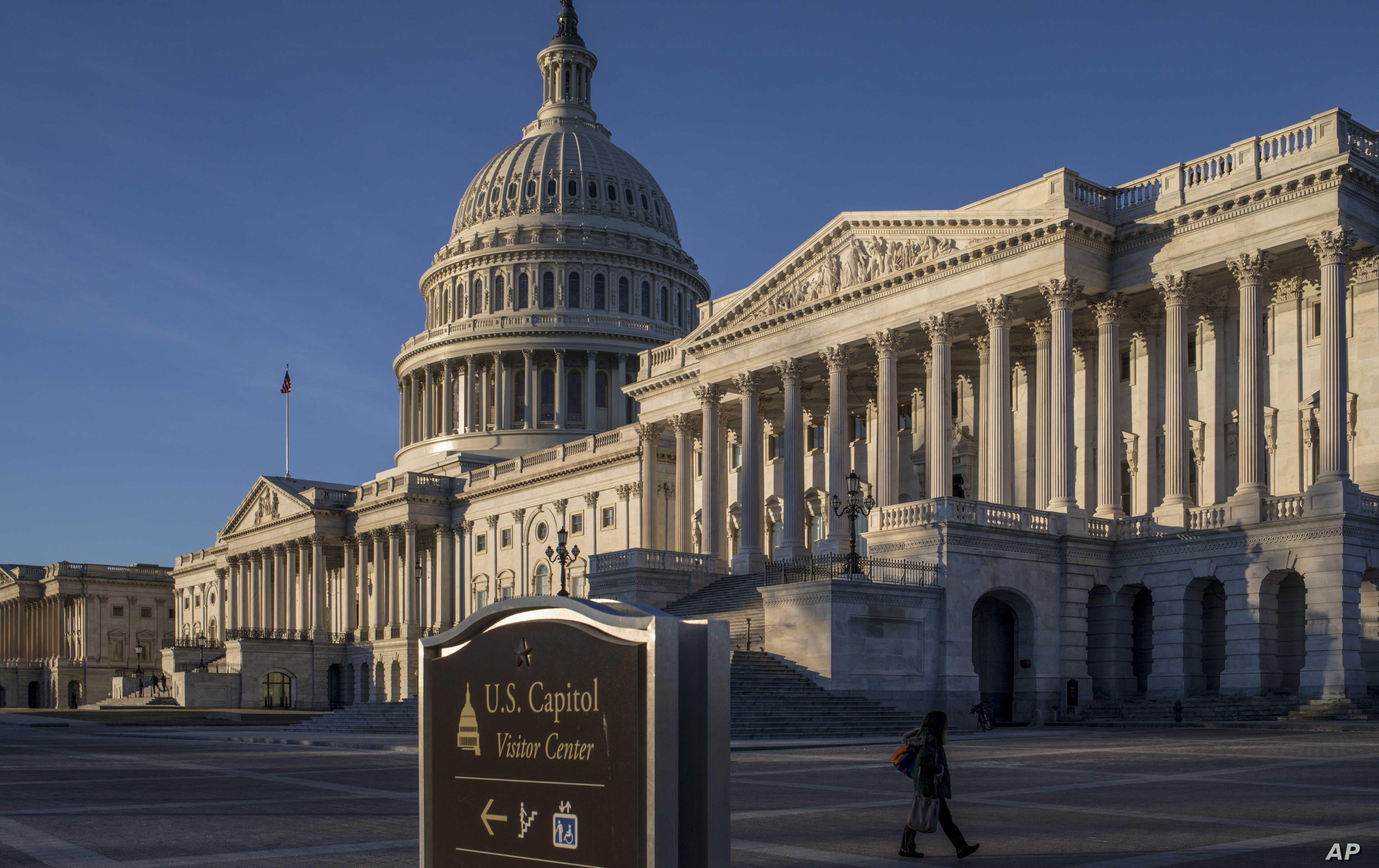The Capitol is seen on the first day of a government shutdown, in Washington, Jan. 20, 2018.