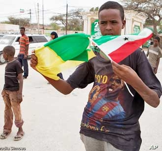 Kilmiye party supporter shows his colors