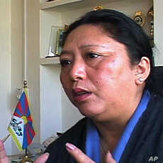 Deputy speaker of the Tibetan Parliament in exile Dolma Gyari.
