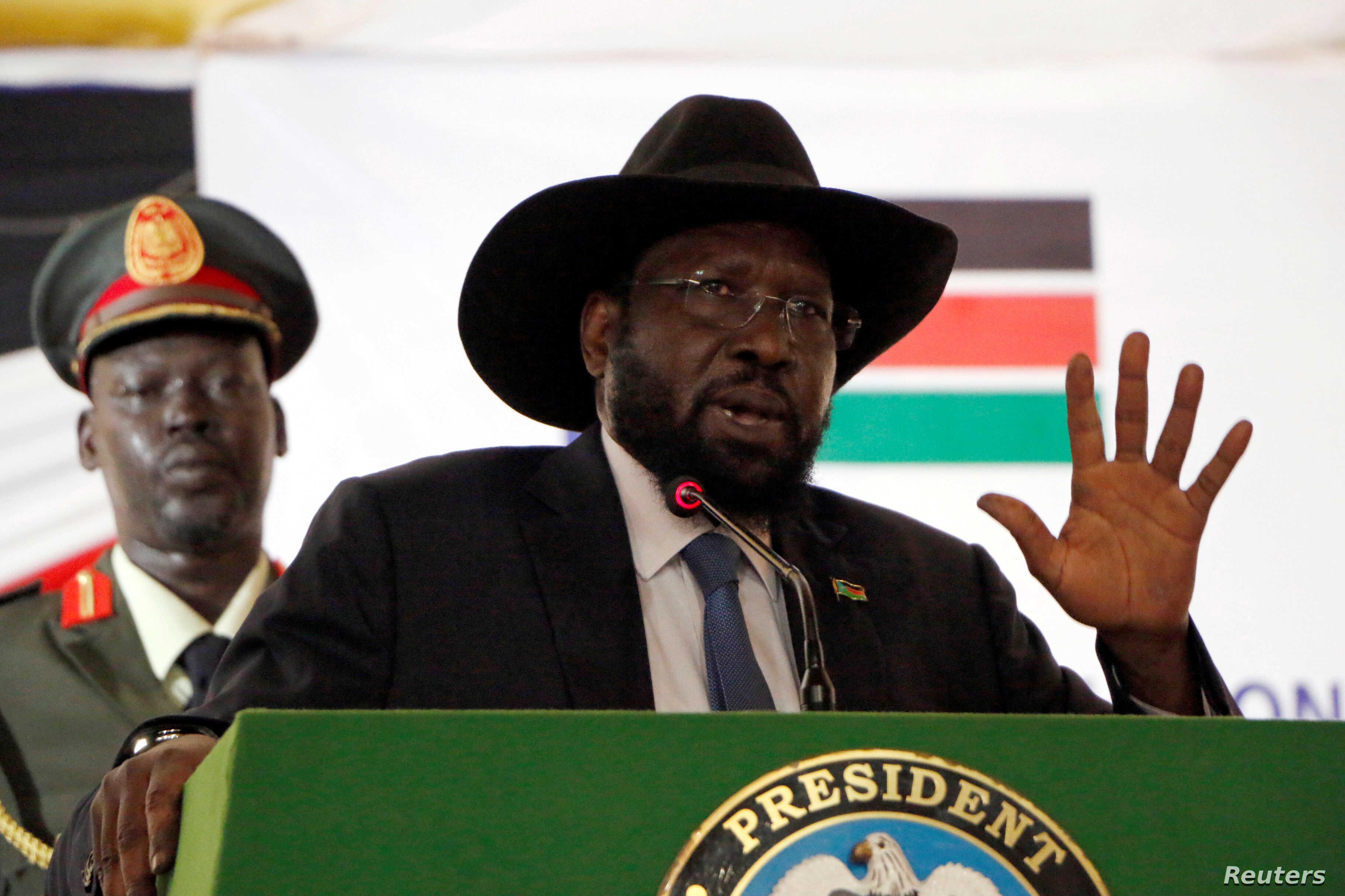 South Sudan's President Salva Kiir, who launched the National Dialogue committee in Juba, May 22, 2017, has announced he will not serve as 'patron' for the process.