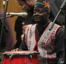 Haitian drum virtuoso Frisner Augustin performed with Frank London and the Klezmer Brass All-Stars.
