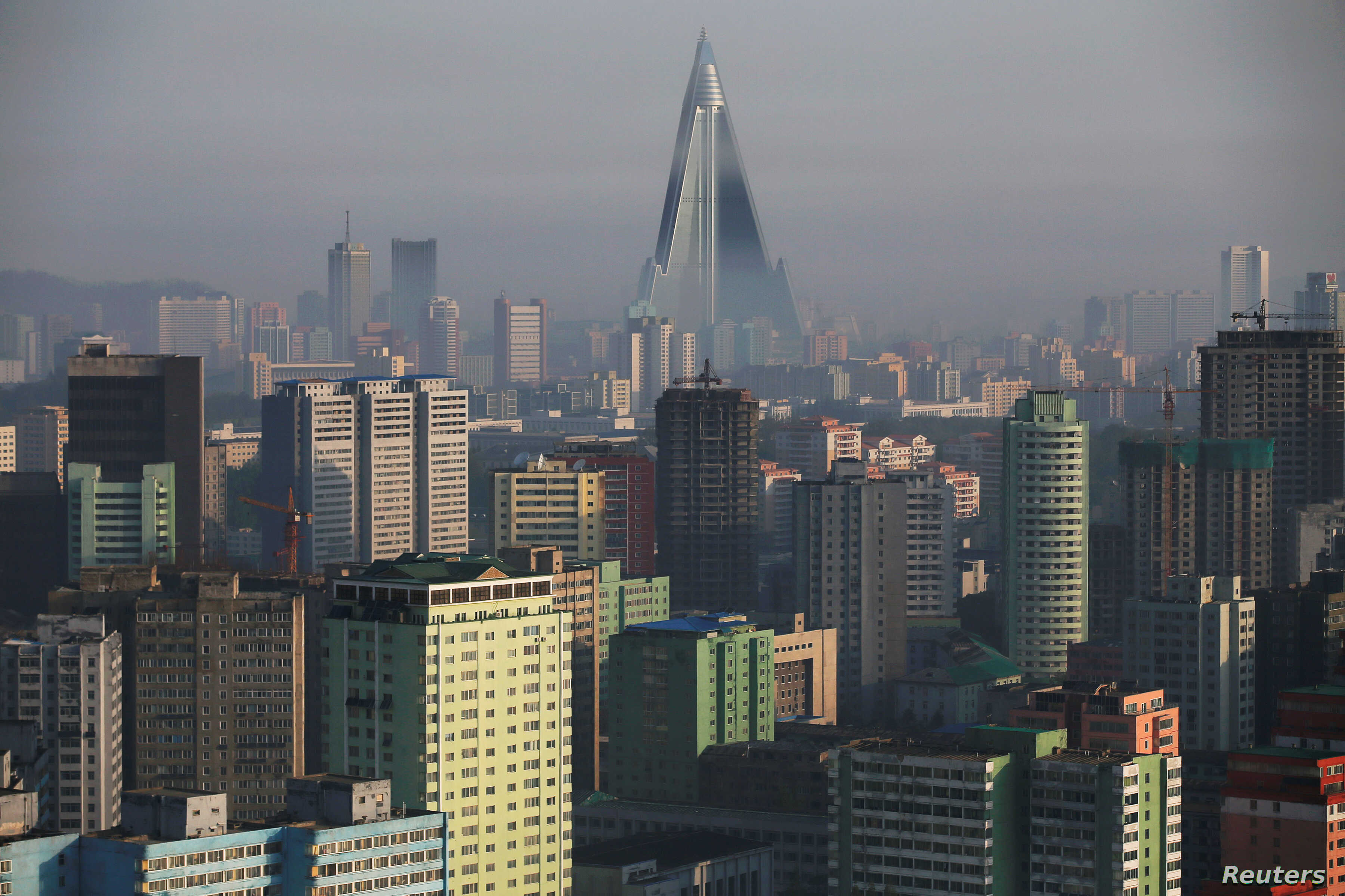 Despite Sanctions and Isolation, Pyongyang Skyline Grows | Voice of