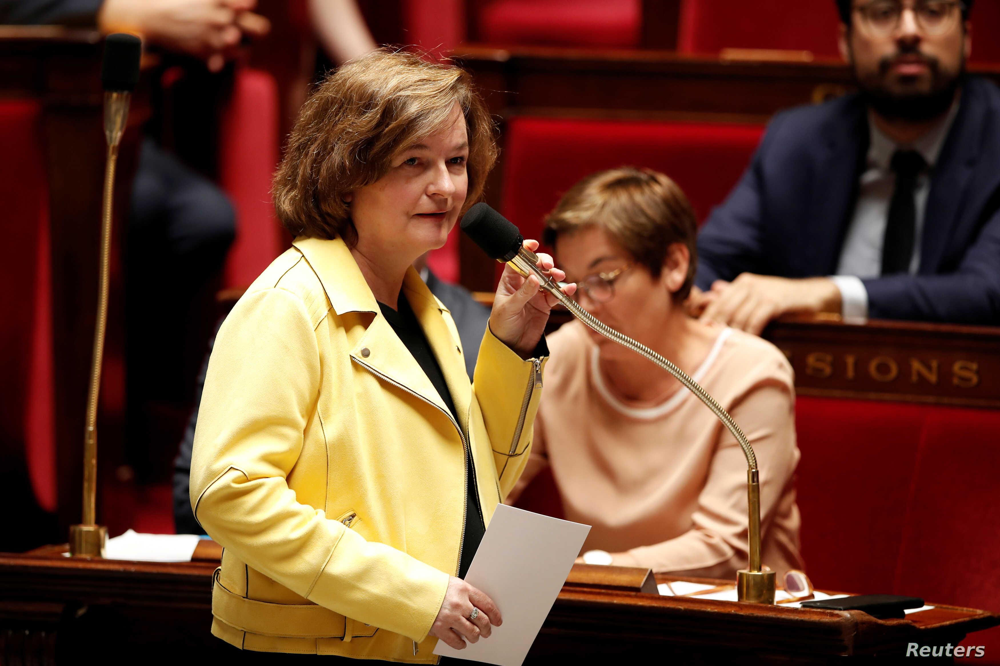 Nathalie Loiseau, French Minister attached to the Foreign Affairs Minister, attends a government session at the National Assembly in Paris, June 13, 2018.