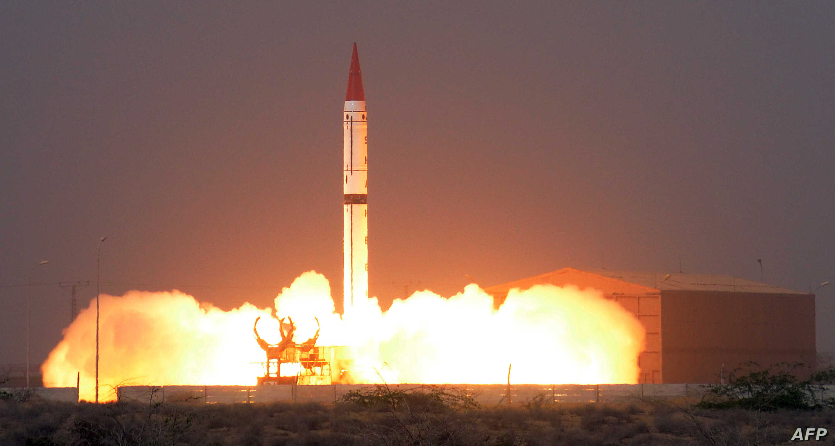 This handout photograph released by Pakistan's Inter Services Public Relations (ISPR) on Dec. 11, 2015, shows a Shaheen III surface-to-surface ballistic missile launching from an undisclosed location in Pakistan.