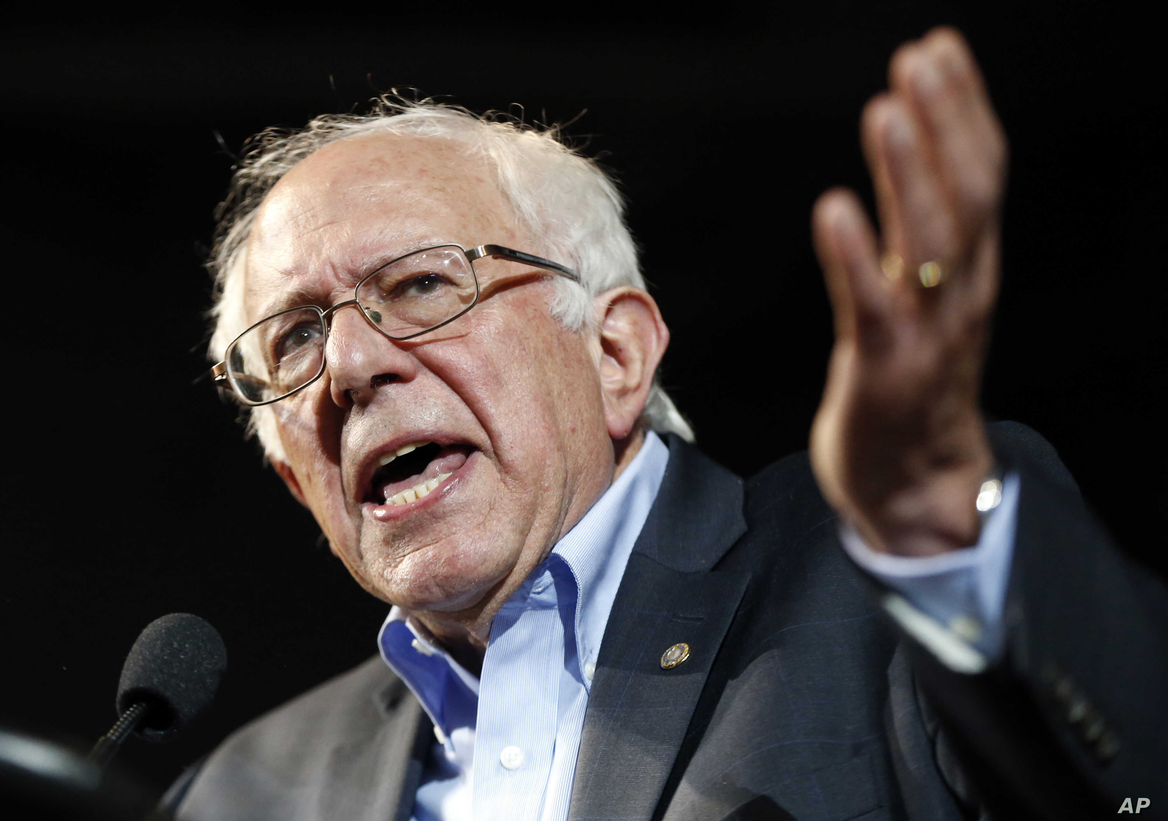 Democratic presidential candidate Sen. Bernie Sanders, I-Vt., speaks at a campaign rally in Portland, Maine. Sanders is packing 'em in: 10,000 people in Madison, Wisconsin, July 6, 2015.