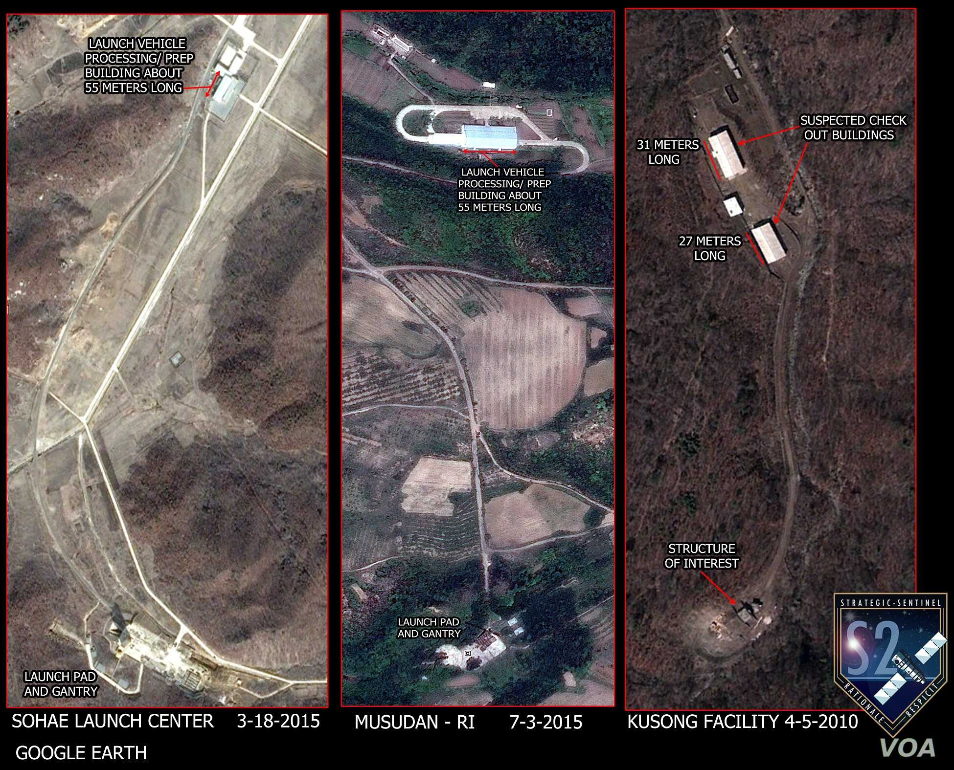 The suspected site in Geunmchang-ri and North Korea's other existing missile launching sites share great similarities, according to Strategic Sentinel. (Strategic Sentinel)