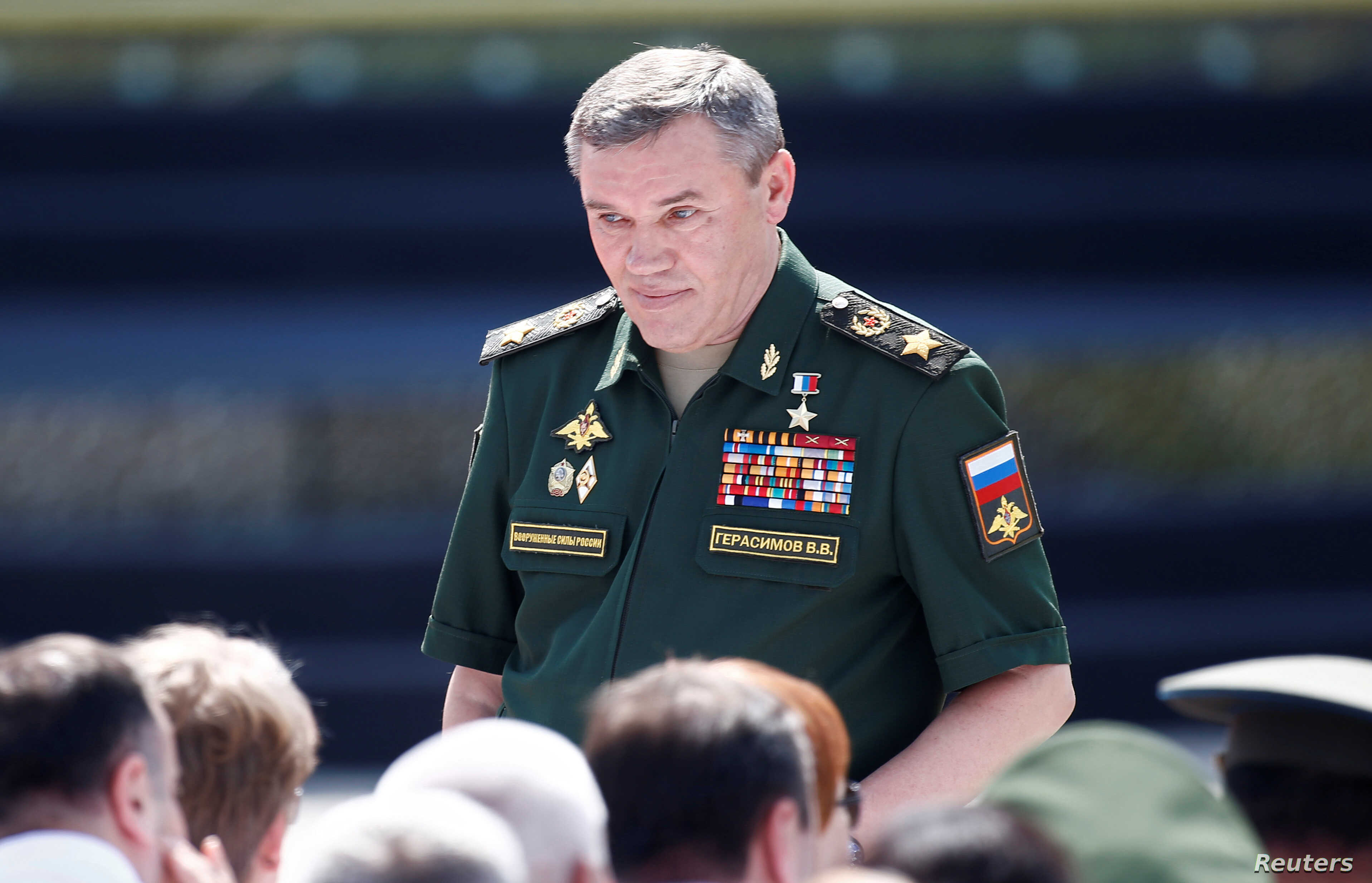 Chief of the General Staff of Russian Armed Forces, Valery Gerasimov, arrives for the opening ceremony of the International Army Games 2017 in Alabino, outside Moscow, Russia, July 29, 2017.