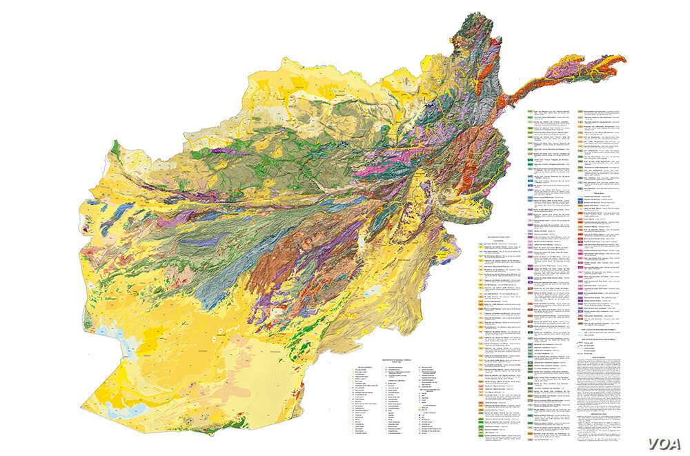 Afghanistan Us Companies Working On Afghan Coal Deal Voice Of - Coal-map-us
