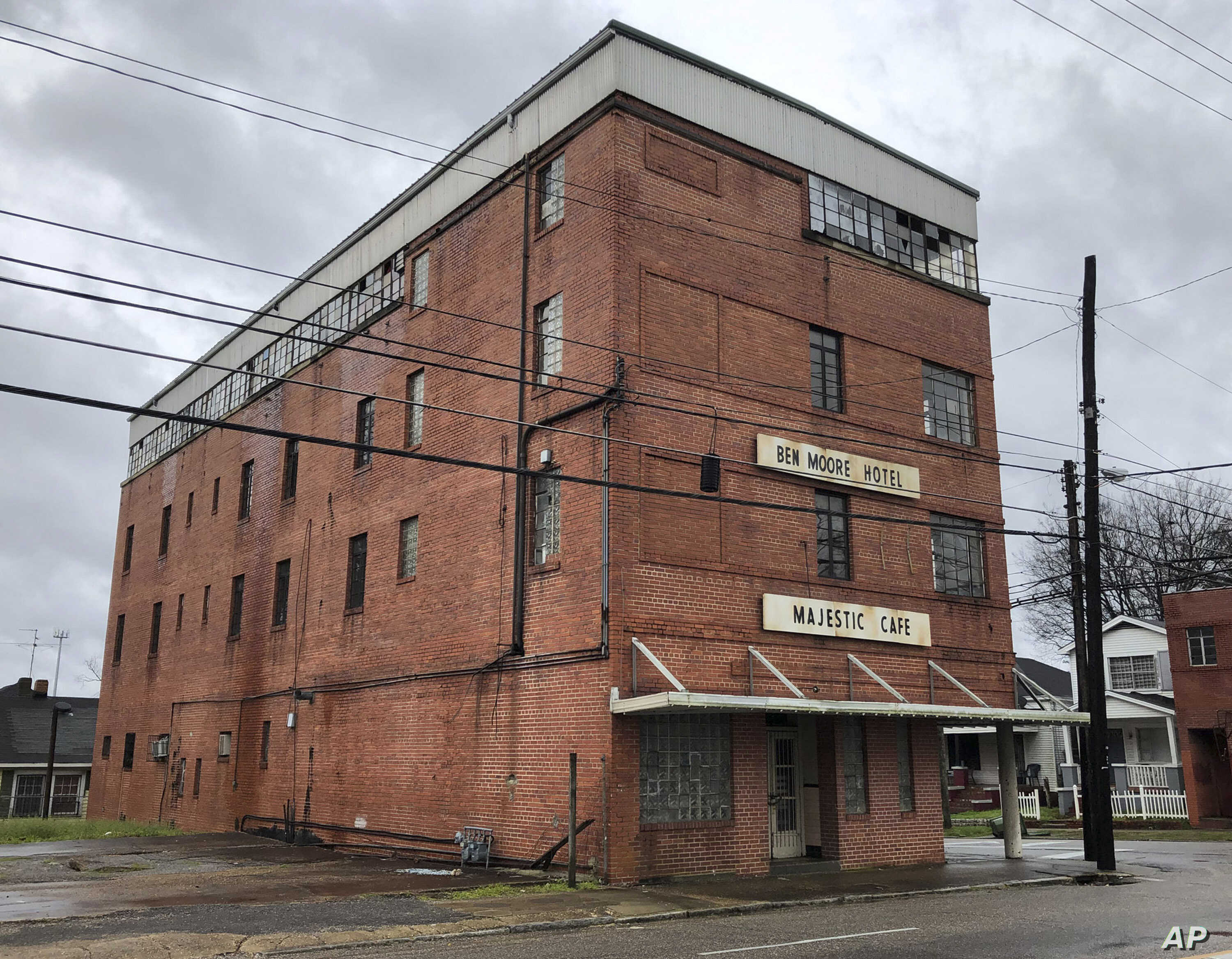 """The old Ben Moore Hotel, once mentioned in the """"Green Book"""" for black travelers, in Montgomery, Ala., Feb. 12, 2019. The movie """"Green Book"""" has spurred interest in the real guidebook that helped black travelers navigate segregated America. The hotel,..."""
