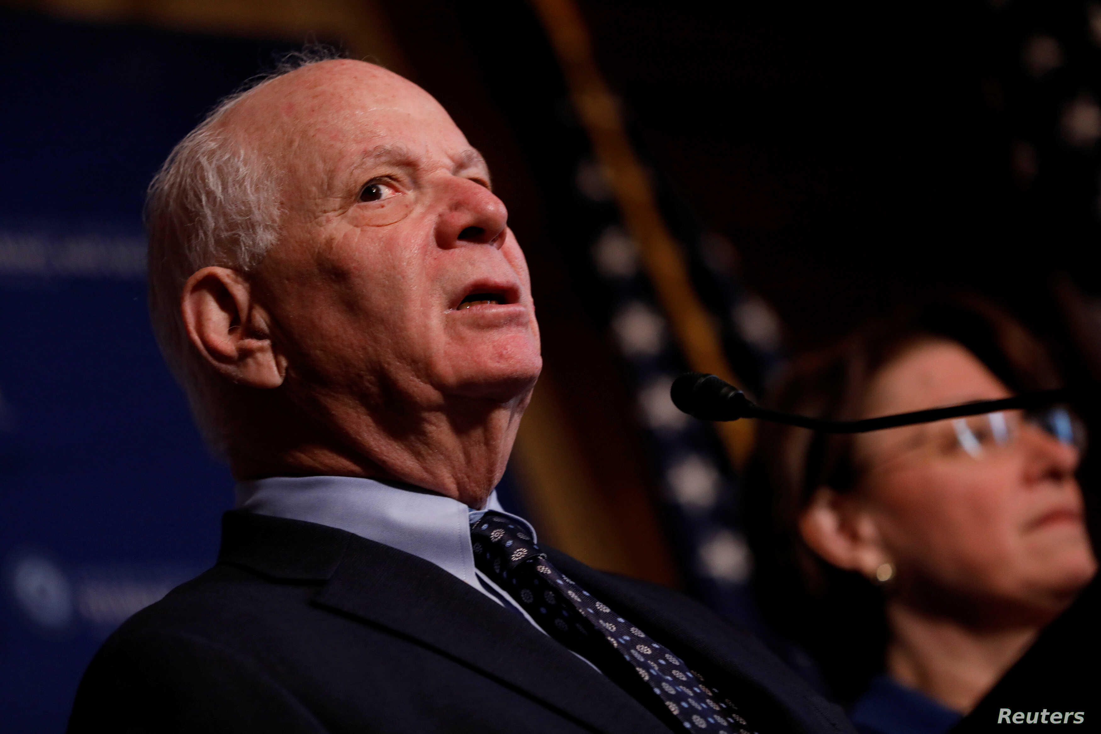 FILE - Senator Ben Cardin (D-MD) speaks at a press conference on the need for increased government transparency at the Capitol in Washington, D.C., U.S. March 15, 2017.