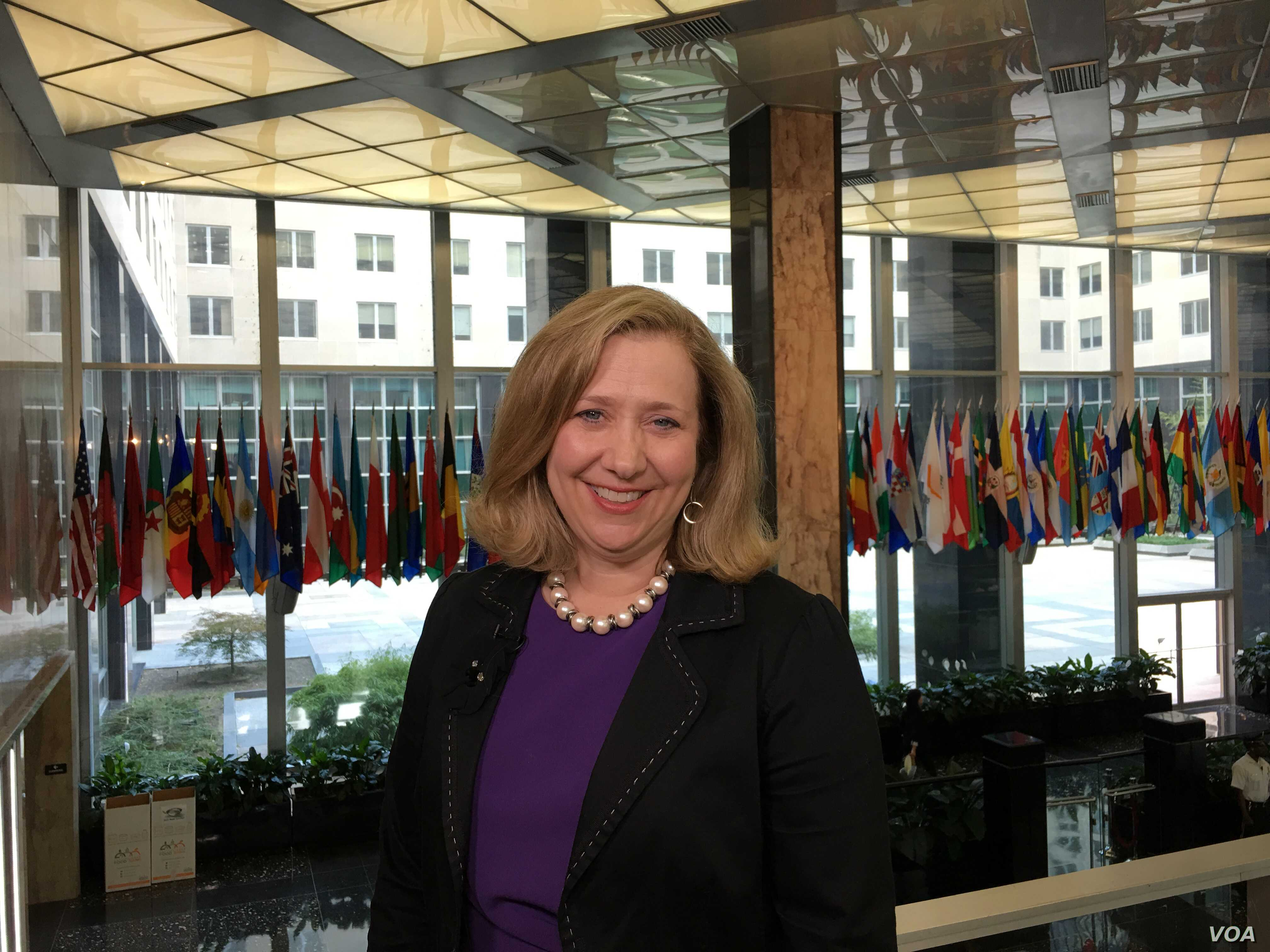 Susan Coppedge, the U.S. Ambassador-at-large to Monitor and Combat Trafficking in Persons.
