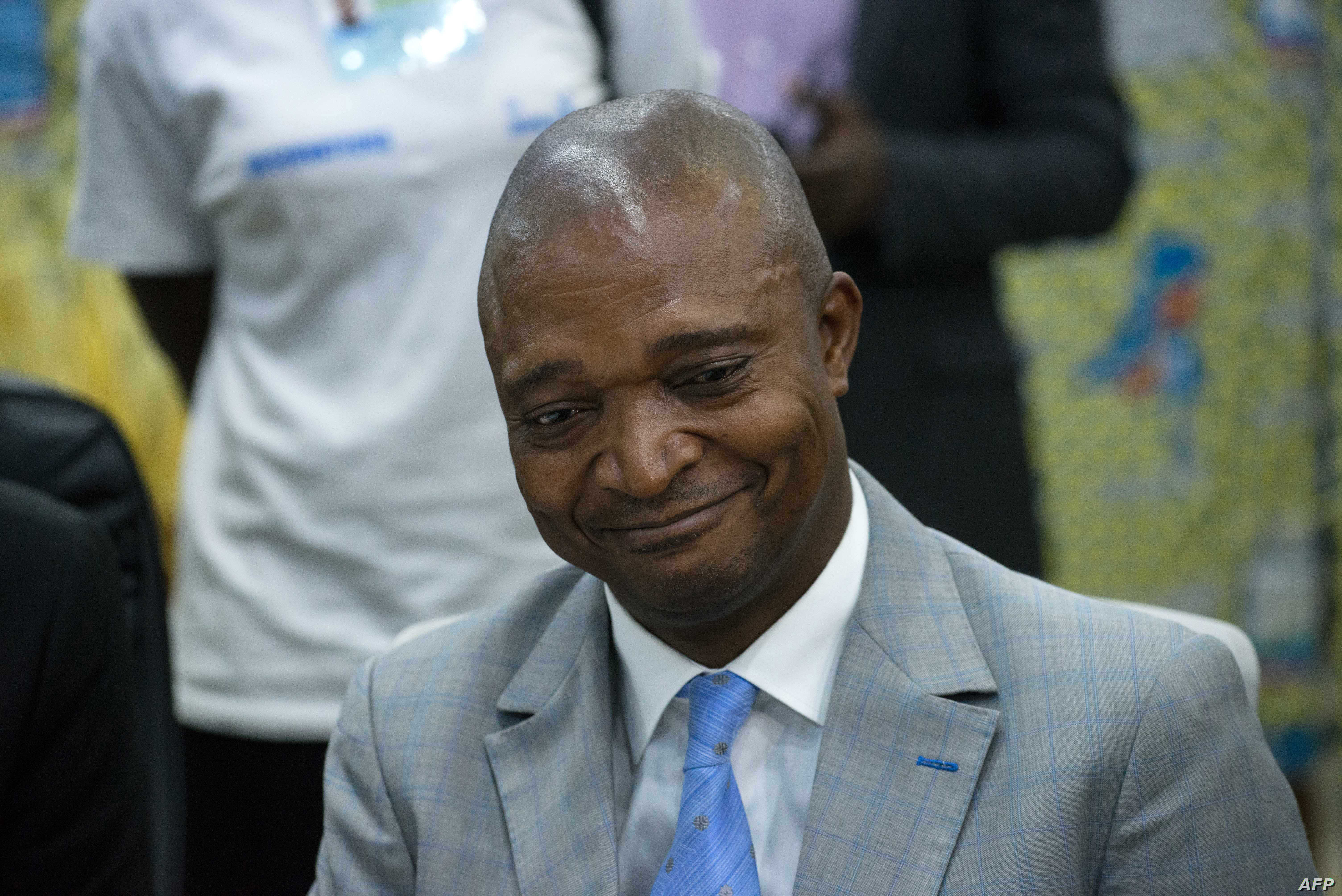 Former interior minister Emmanuel Ramazani Shadary is pictured at the Electoral Commission in Kinshasa, Aug. 8, 2018.