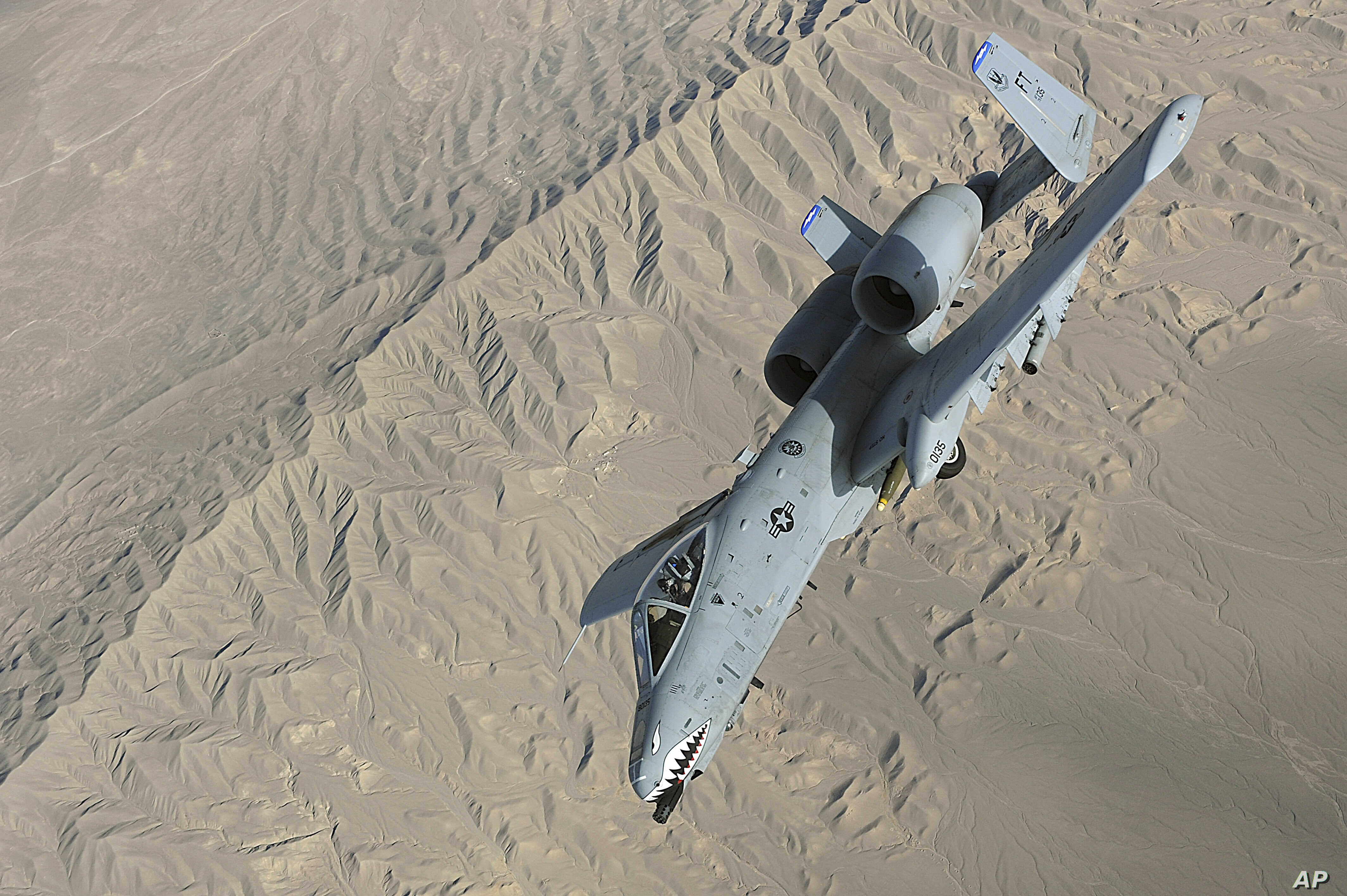 FILE - A U.S. Air Force Air Force A-10 Thunderbolt II in-flight over Afghanistan, Oct. 2008. (Photo by Staff Sgt. Aaron Allmon)